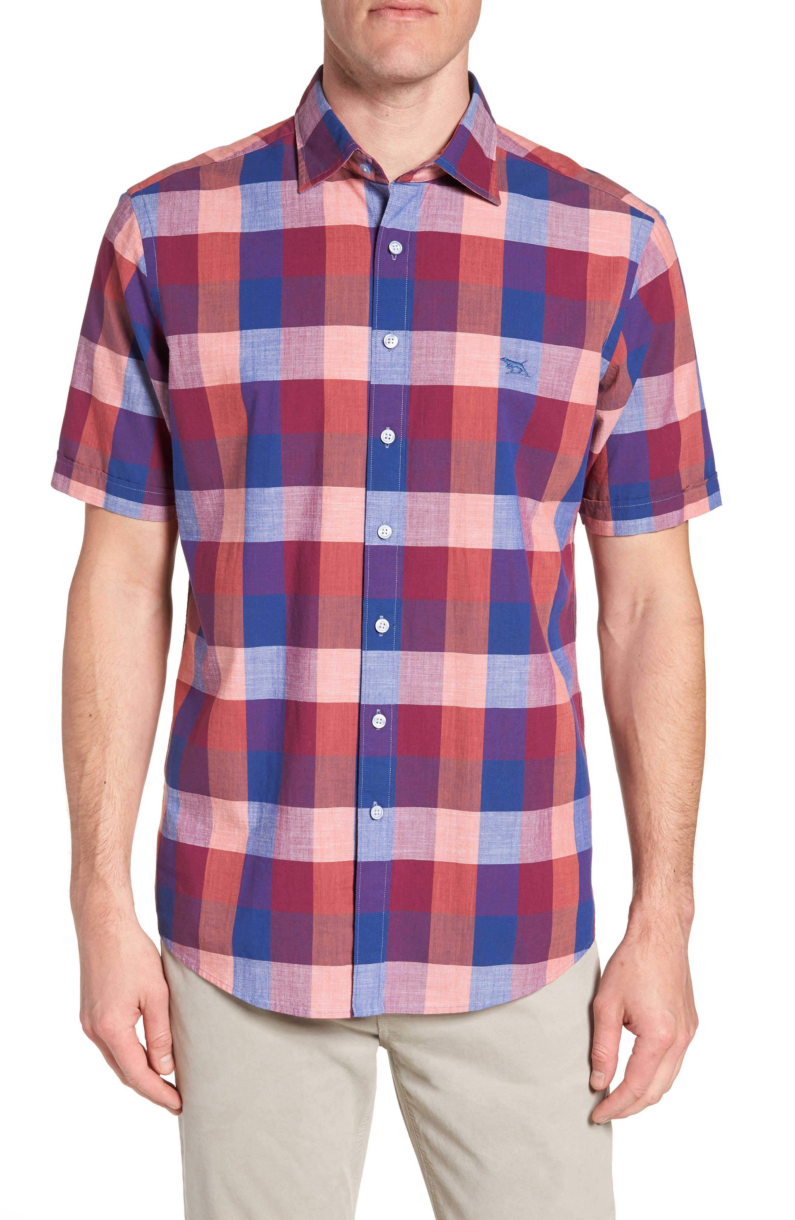 Knighton Regular Fit Sport Shirt,                         Main,                         color, Berry