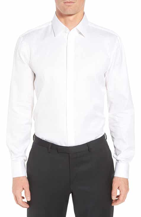 e7d5495f BOSS Myron Sharp Fit Tuxedo Shirt
