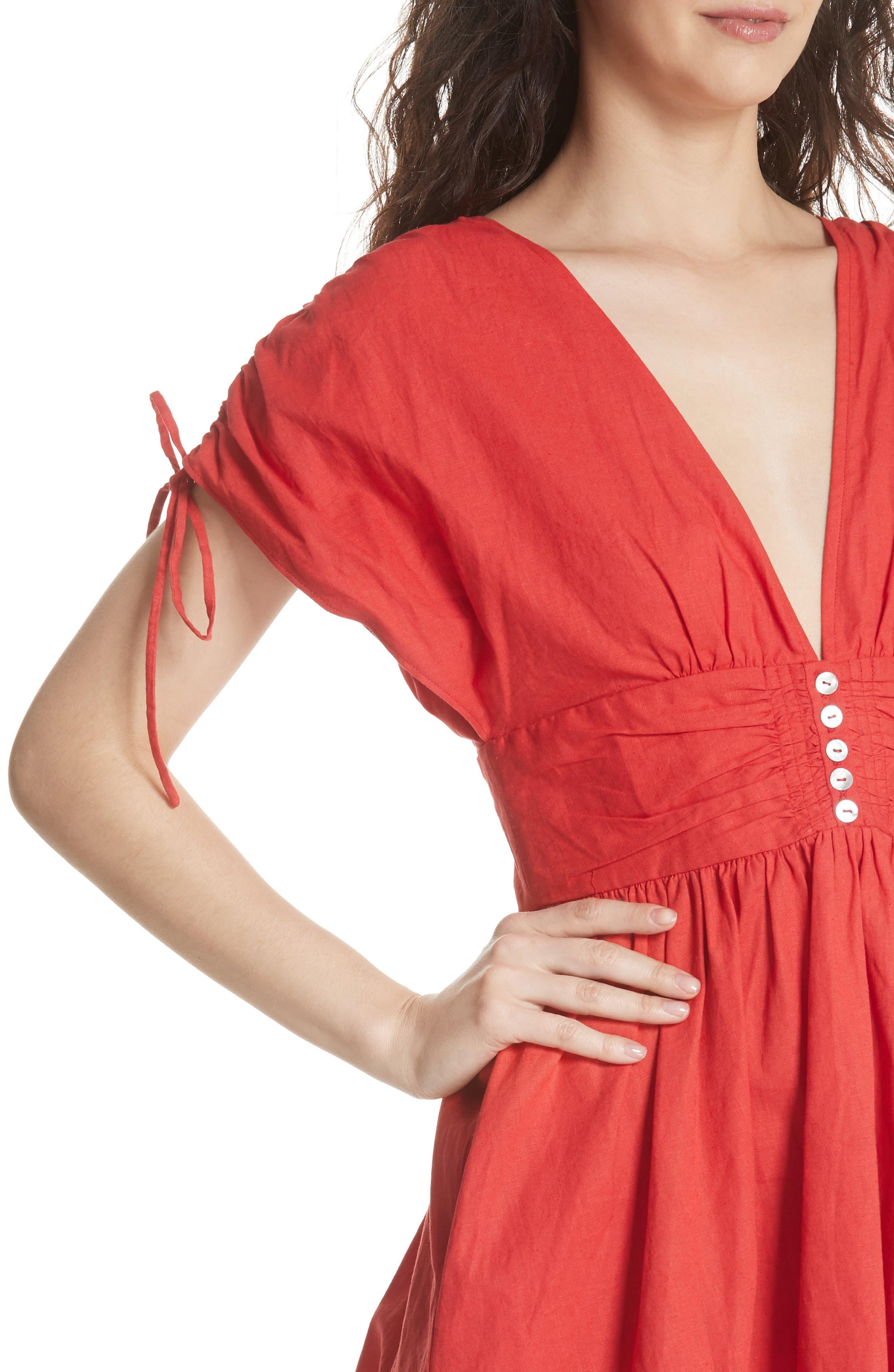 Roll the Dice Minidress,                             Alternate thumbnail 4, color,                             Red
