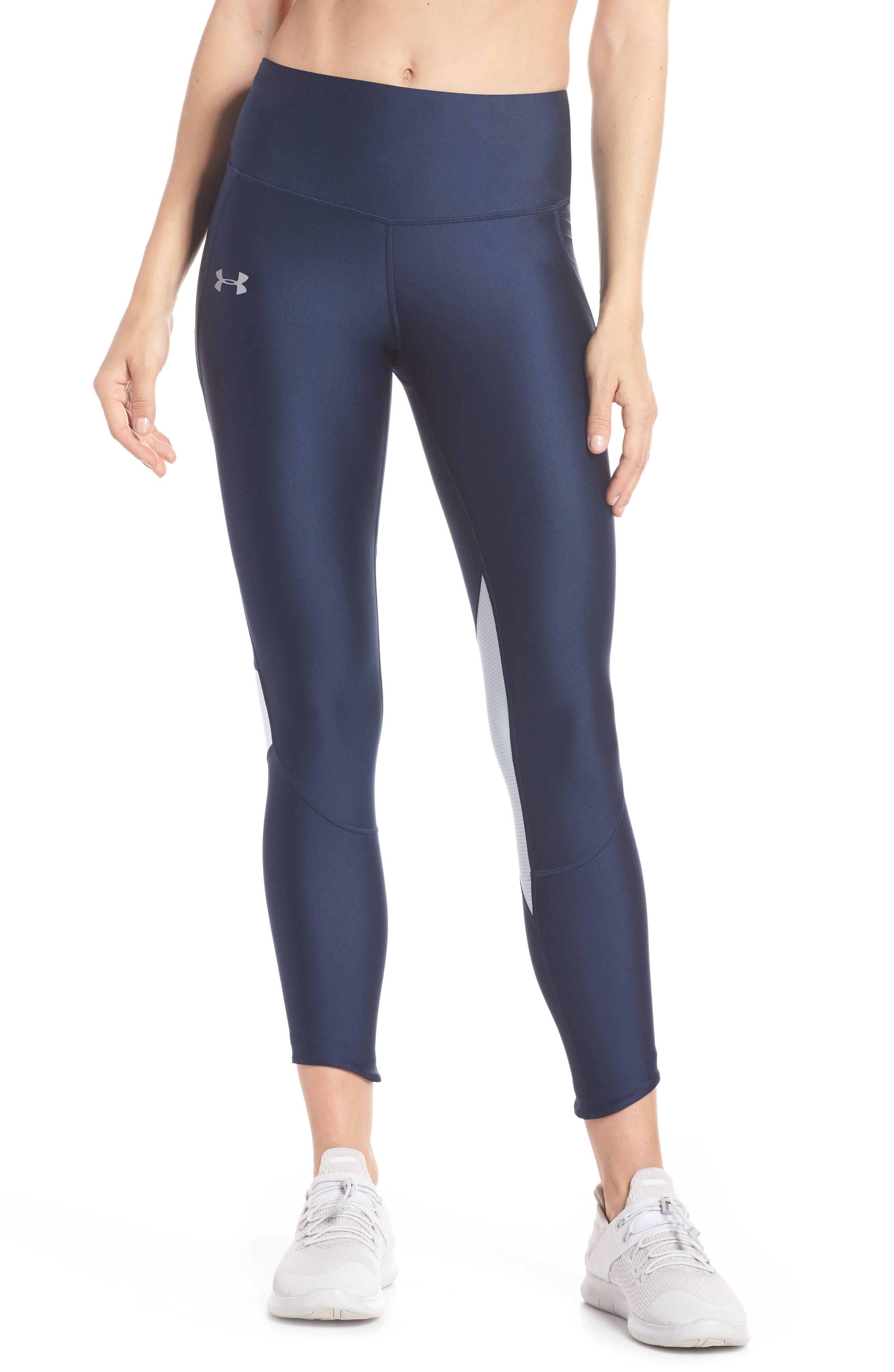 Fly Fast HeatGear<sup>®</sup> Crop Leggings,                         Main,                         color, Academy Blue
