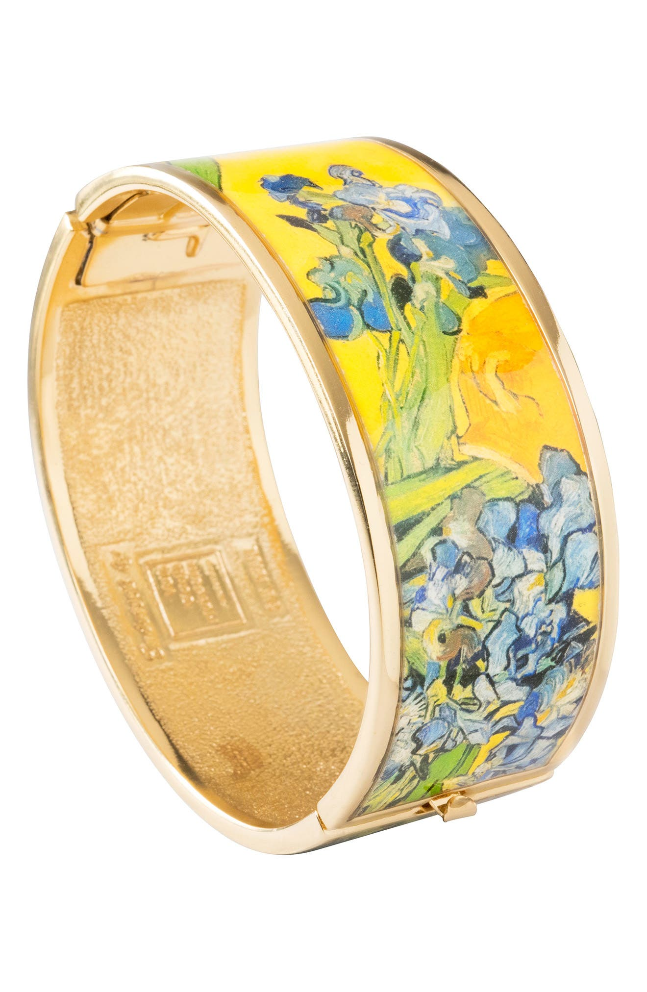 Irises Hinge Bracelet,                             Alternate thumbnail 2, color,                             Yellow/ Gold