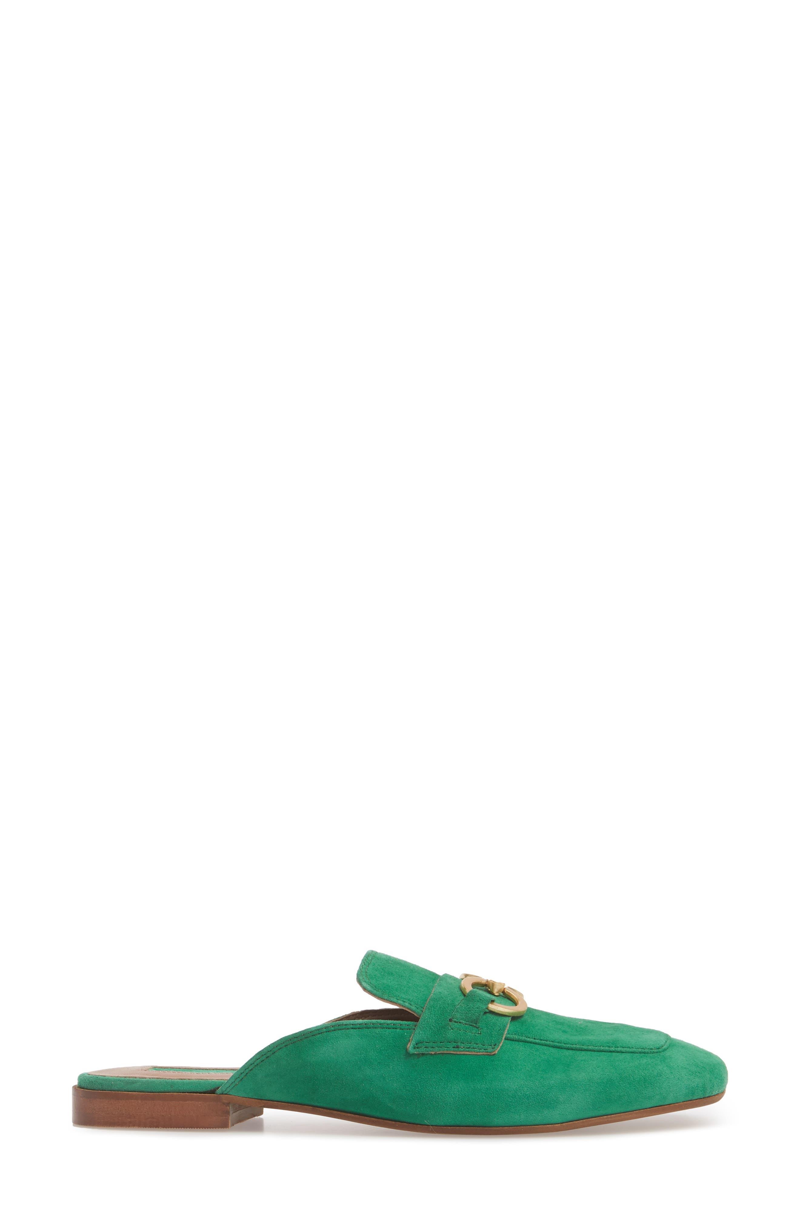 Kale Trim Loafer Mule,                             Alternate thumbnail 3, color,                             Green Multi