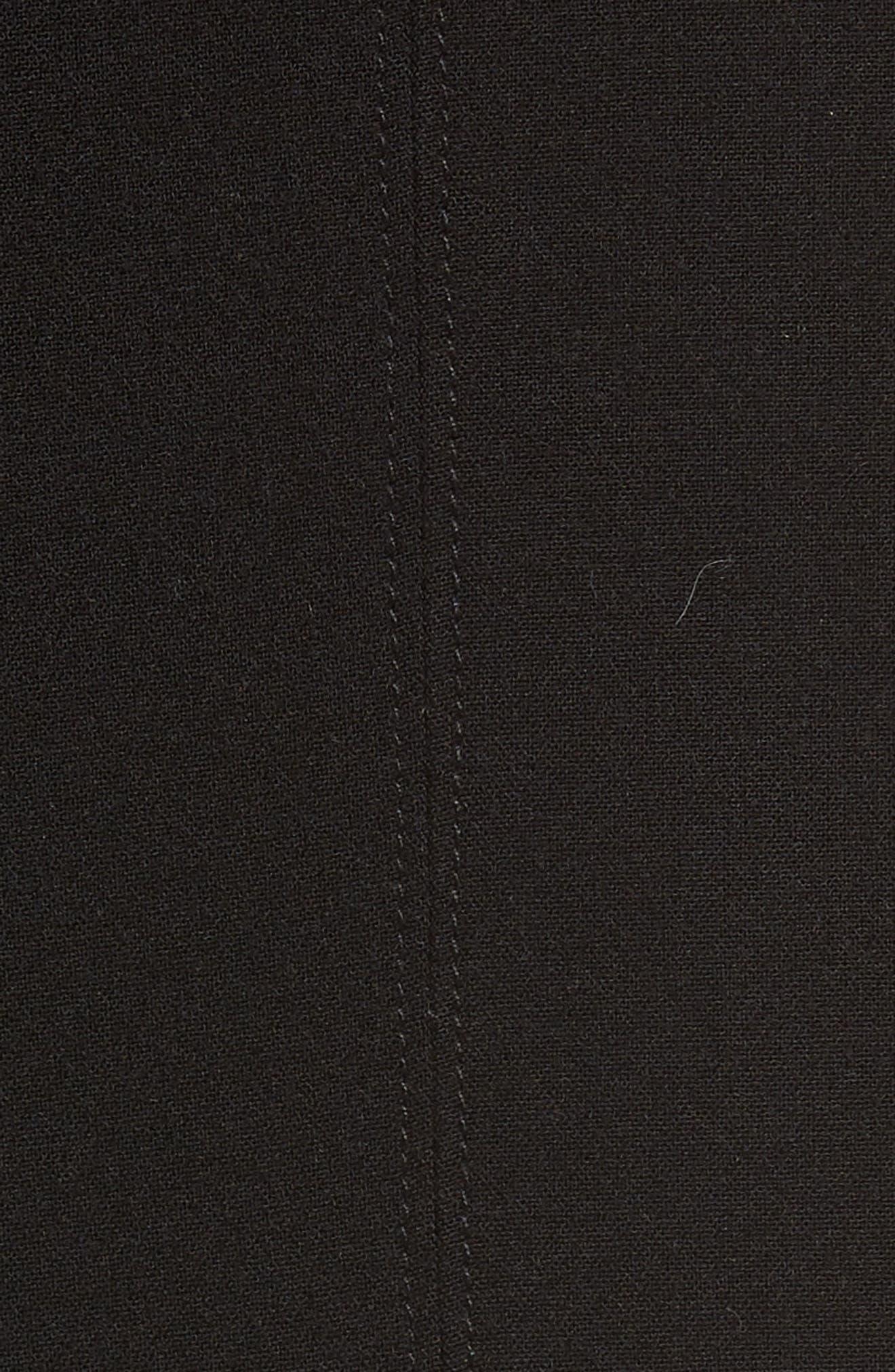 Seamed Pencil Skirt,                             Alternate thumbnail 5, color,                             Black