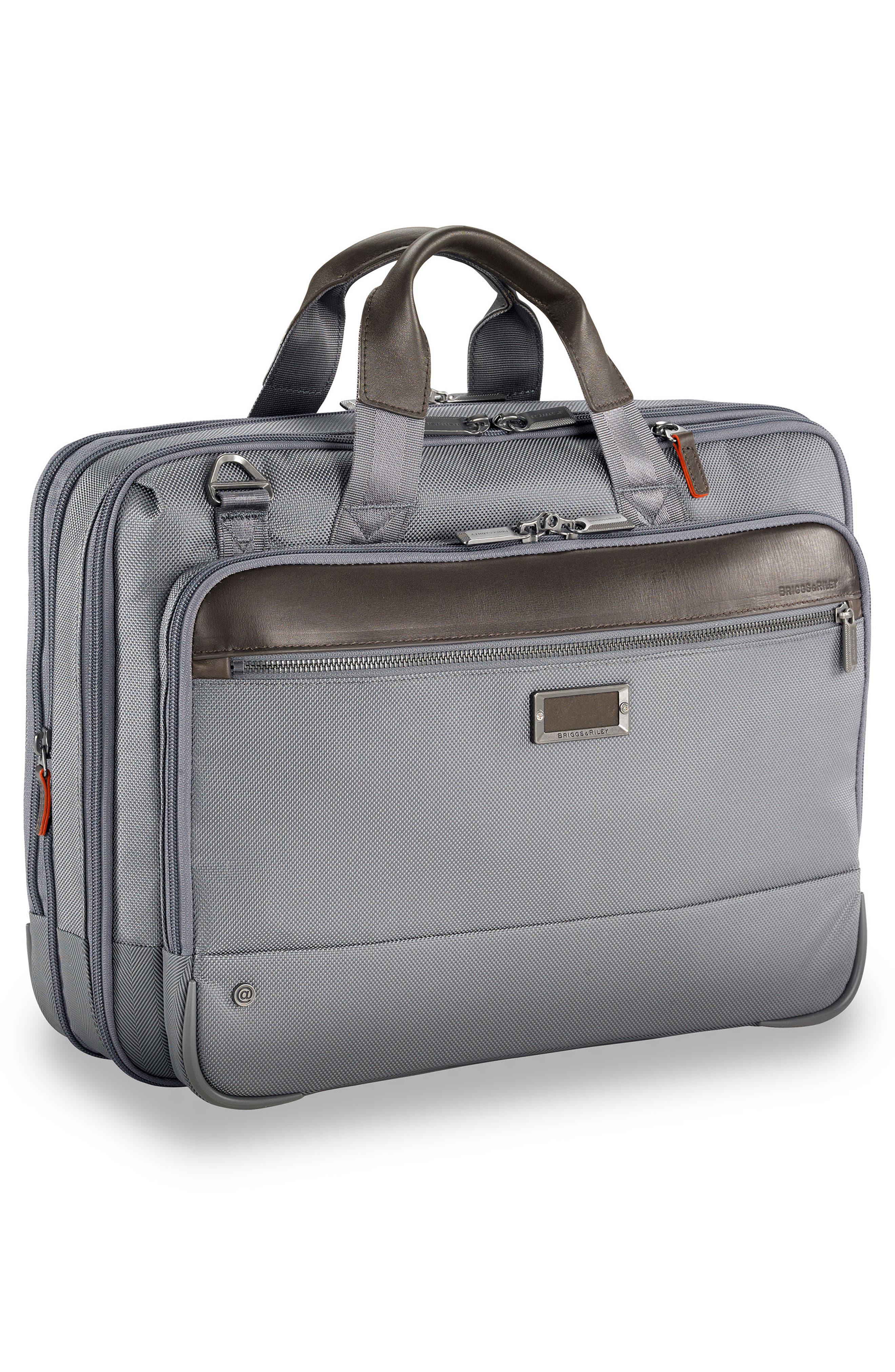 @work Expandable Briefcase,                             Alternate thumbnail 3, color,                             Grey
