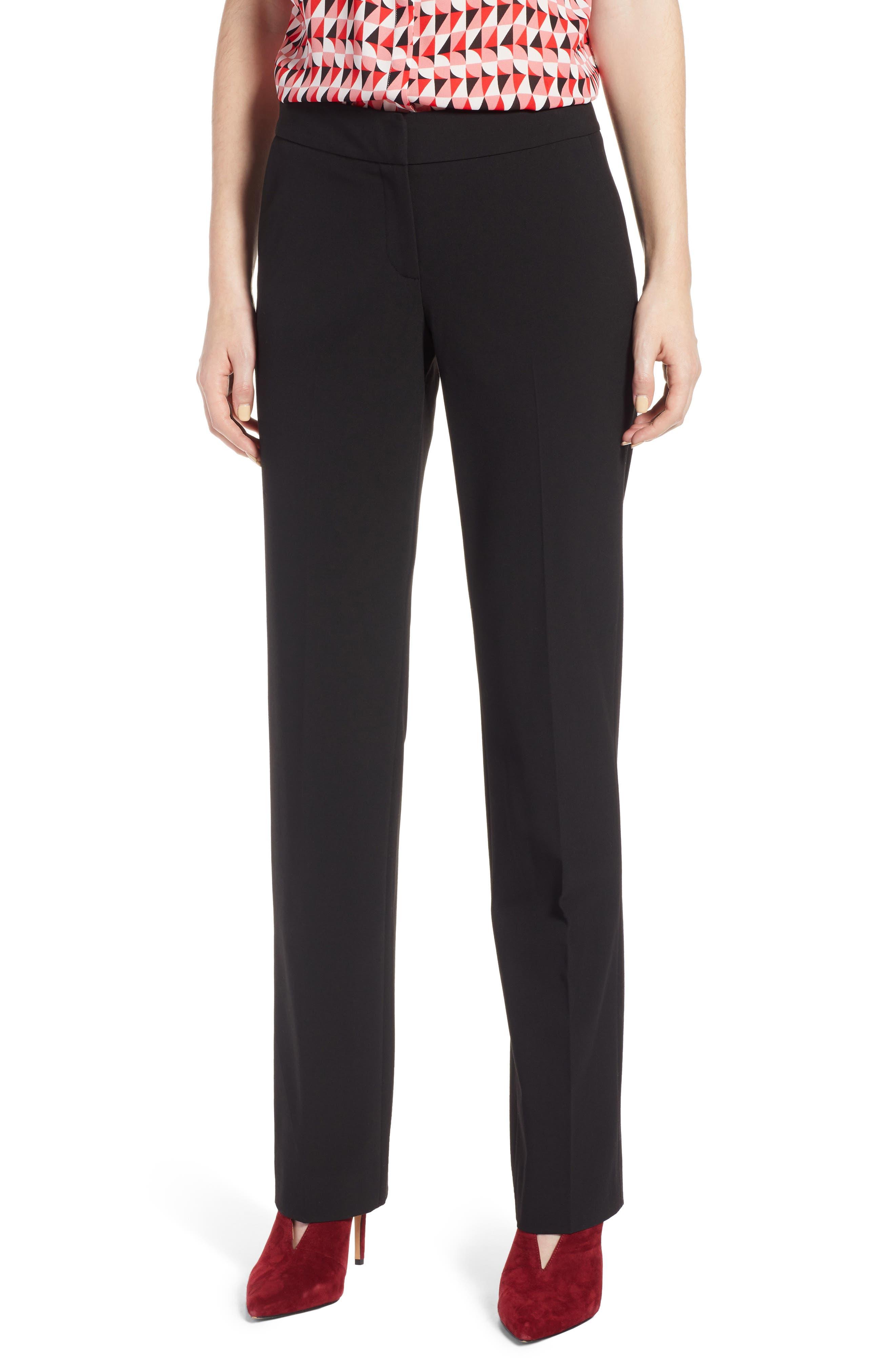 Stovepipe Pants,                         Main,                         color, Black