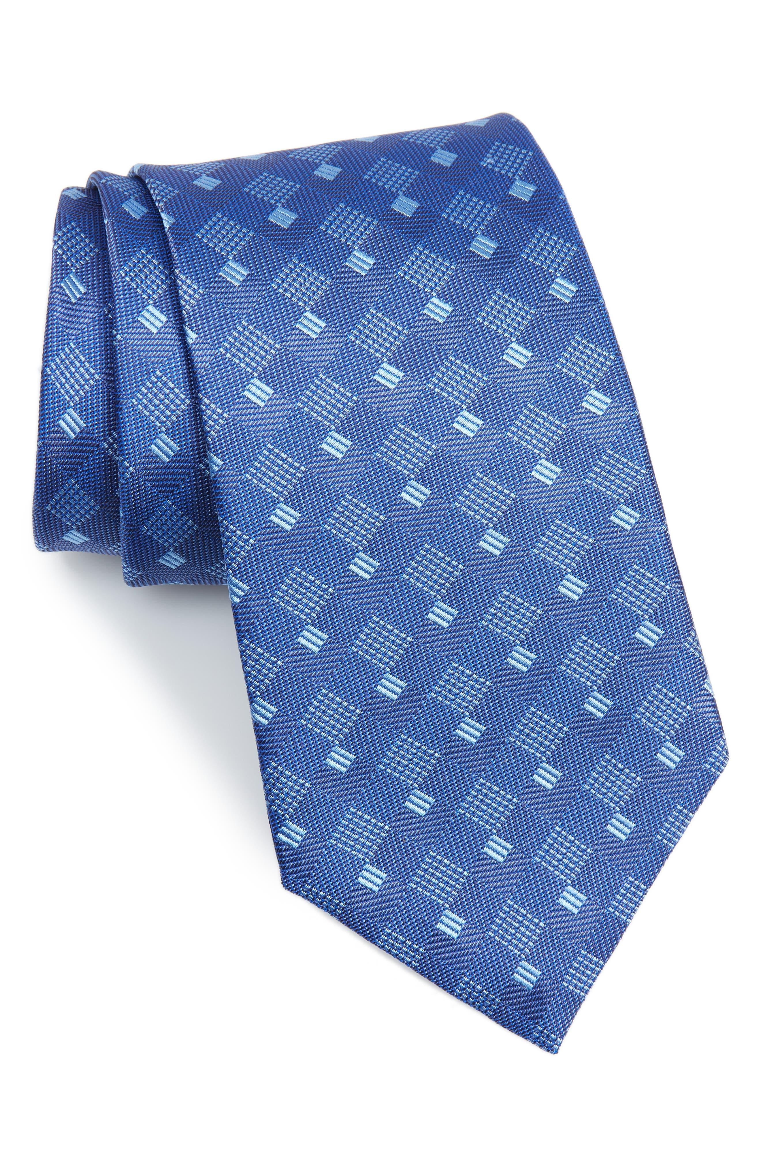 David Donahue Geometric Silk Tie (X-Long)