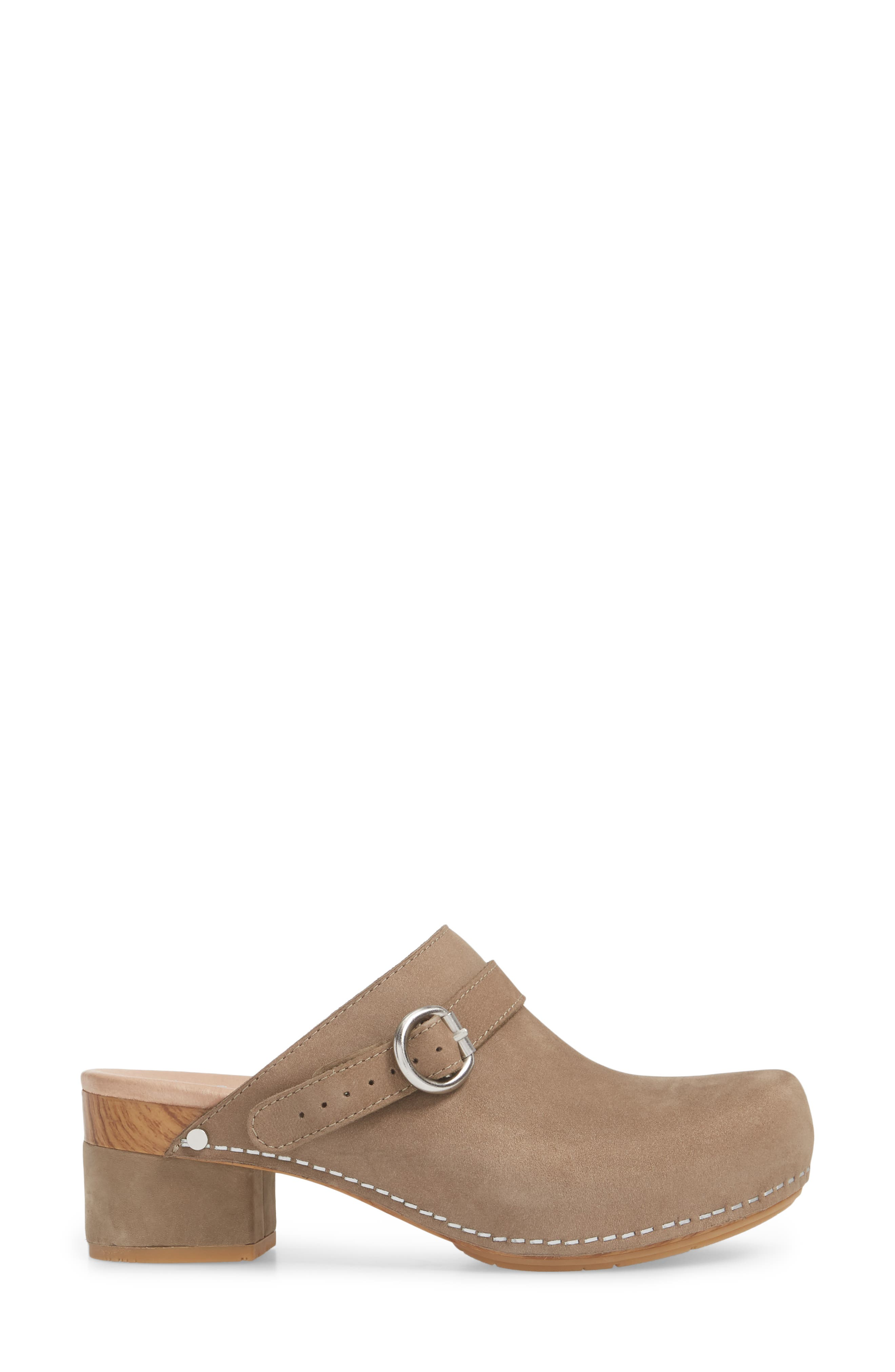 Marty Clog,                             Alternate thumbnail 3, color,                             Taupe Milled Nubuck Leather