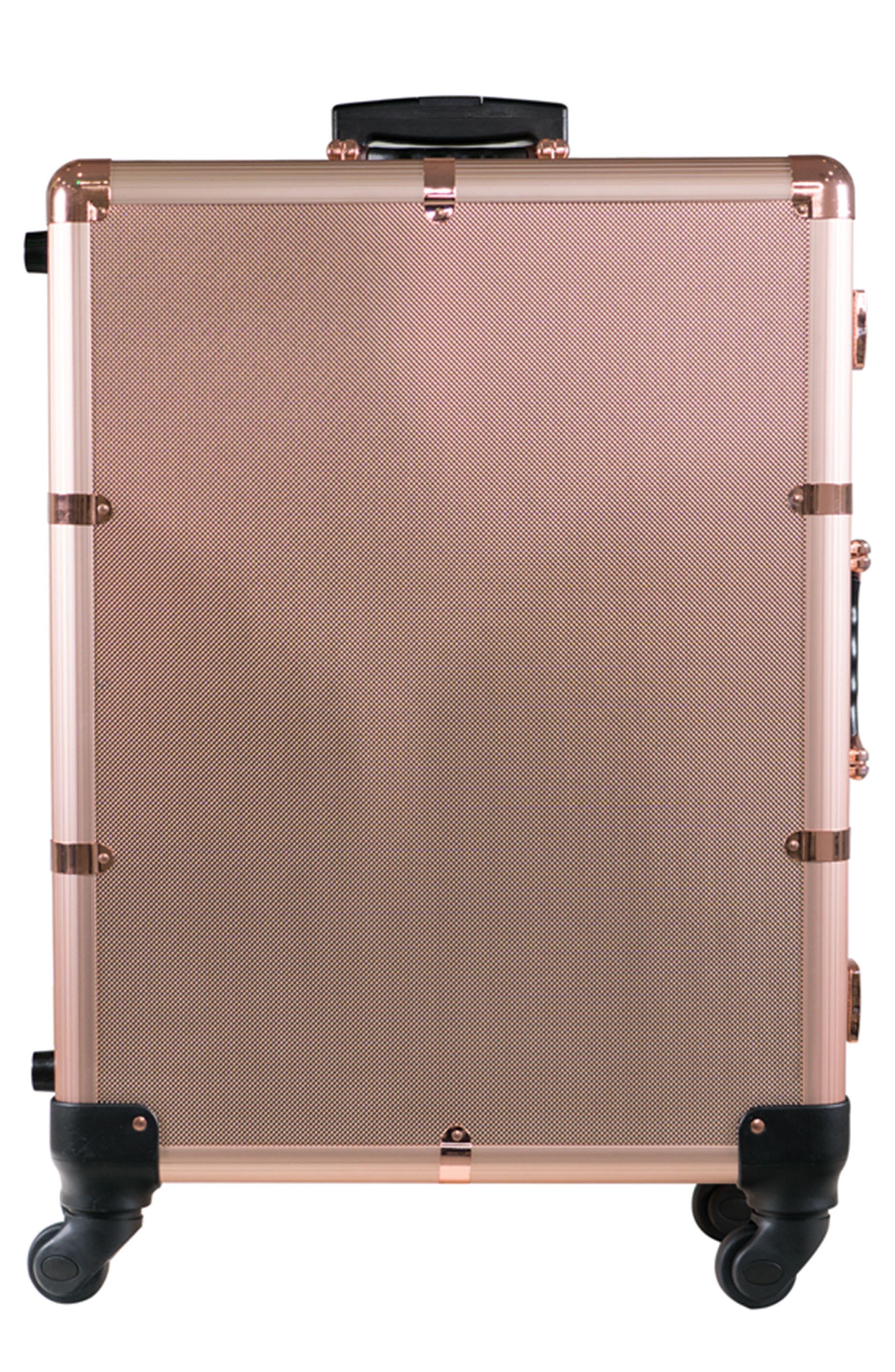 SlayCase<sup>™</sup> Pro Vanity Travel Train Case,                         Main,                         color, Rose Gold Bling