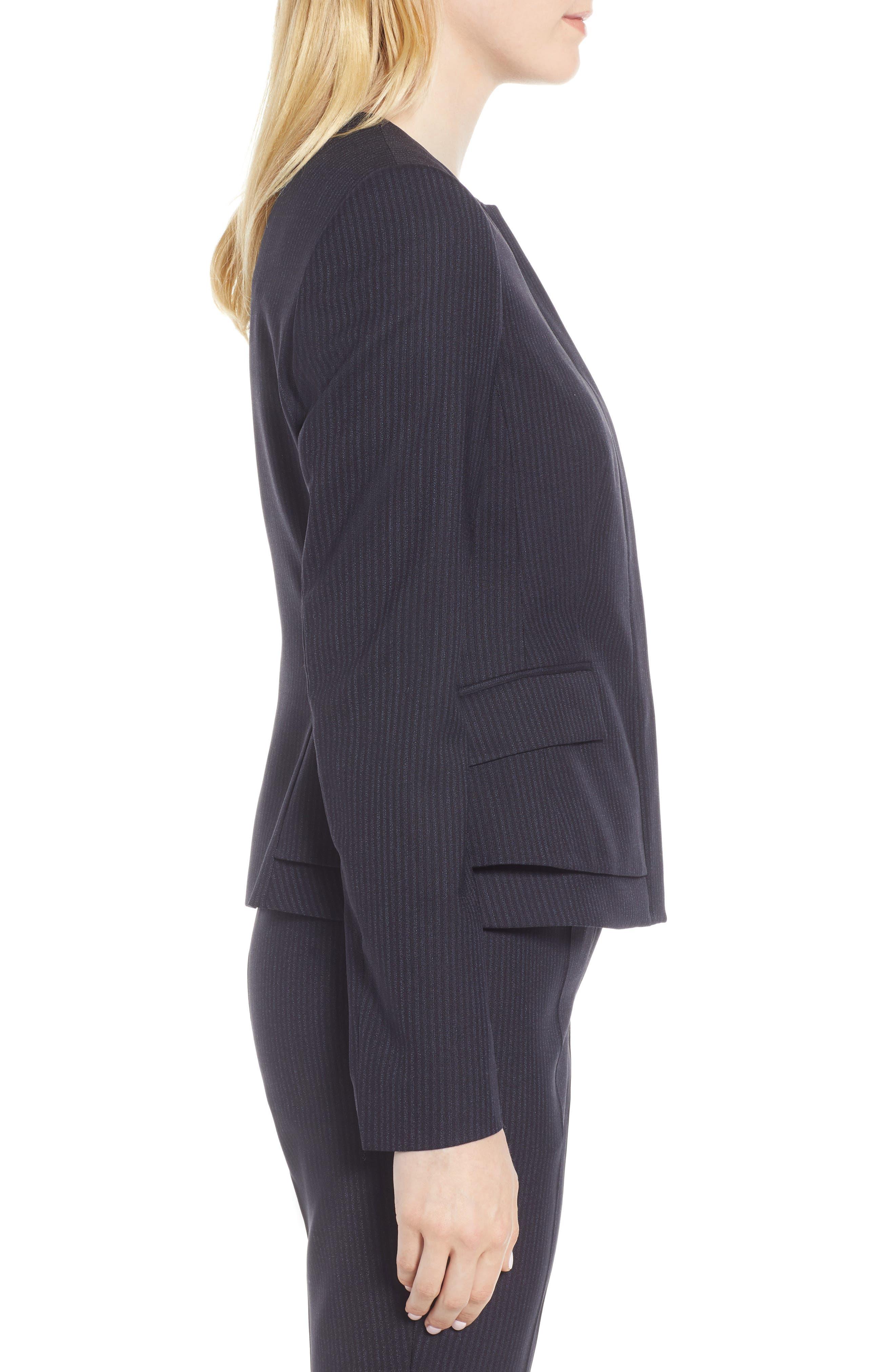Jasyma Tonal Stripe Stretch Wool Suit Jacket,                             Alternate thumbnail 3, color,                             Navy Fantasy