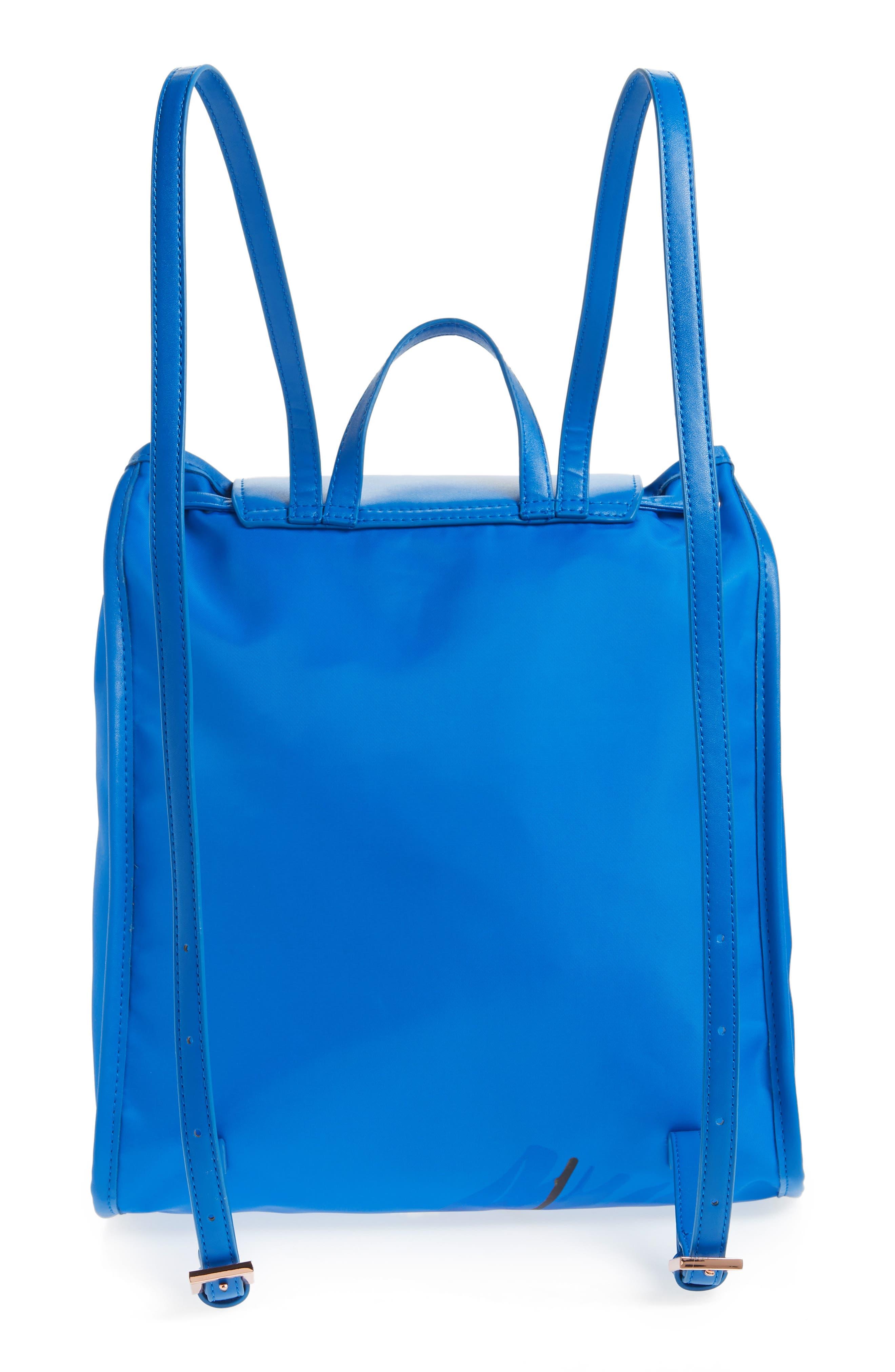Baileee Harmony Print Backpack,                             Alternate thumbnail 3, color,                             Bright Blue