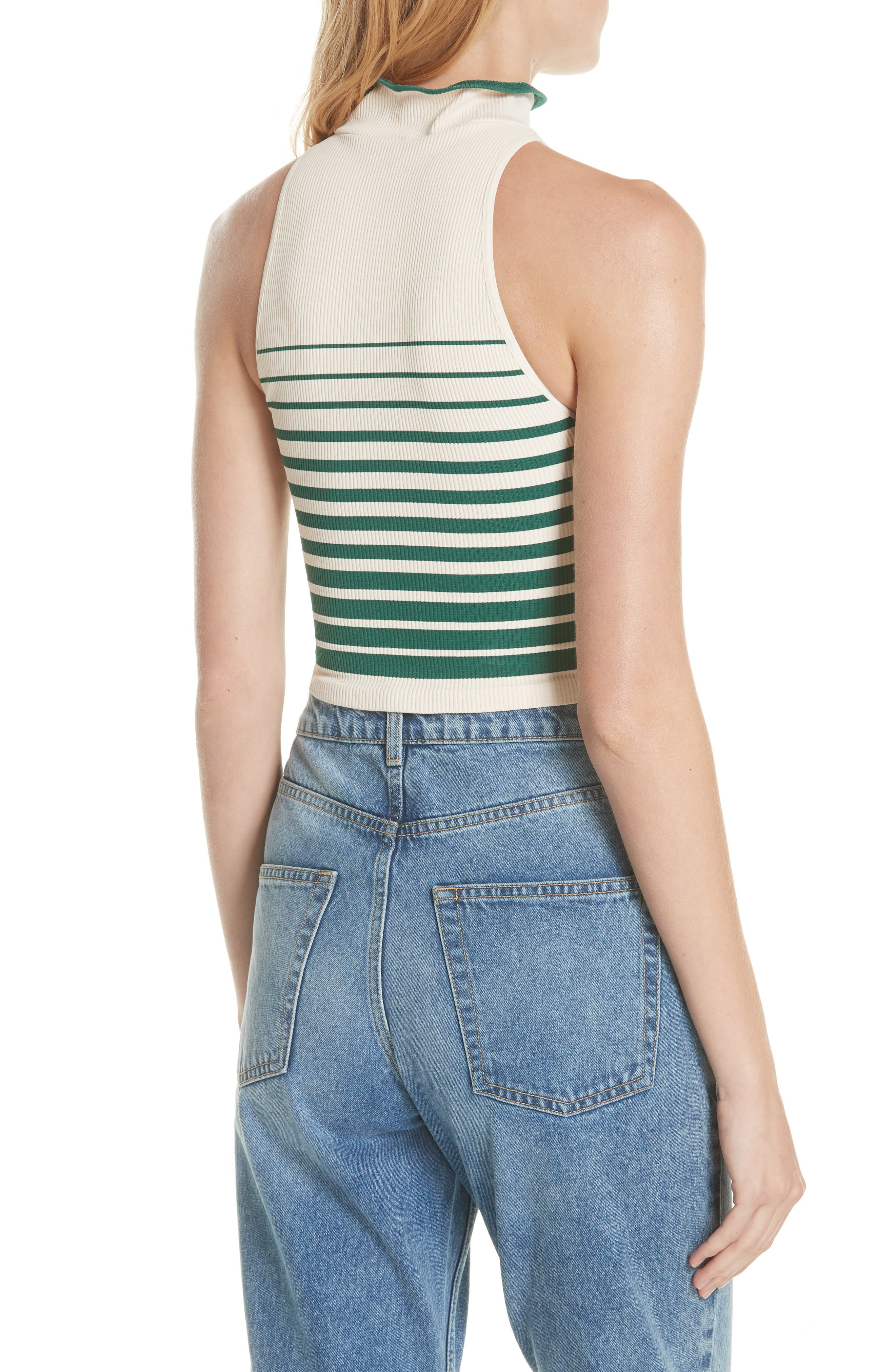 High Five Crop Tank,                             Alternate thumbnail 2, color,                             Ivory