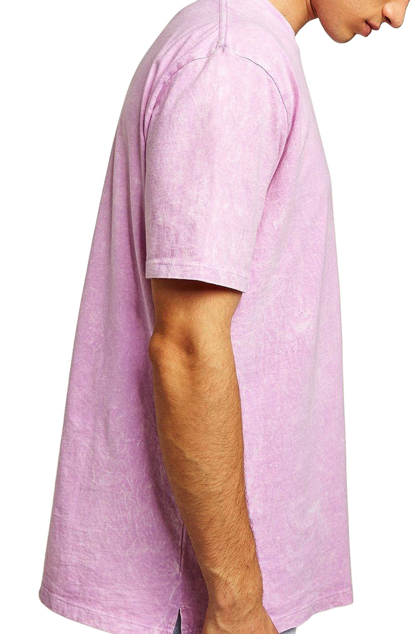 Acid Wash Pocket T-Shirt,                             Main thumbnail 1, color,                             Pink Multi