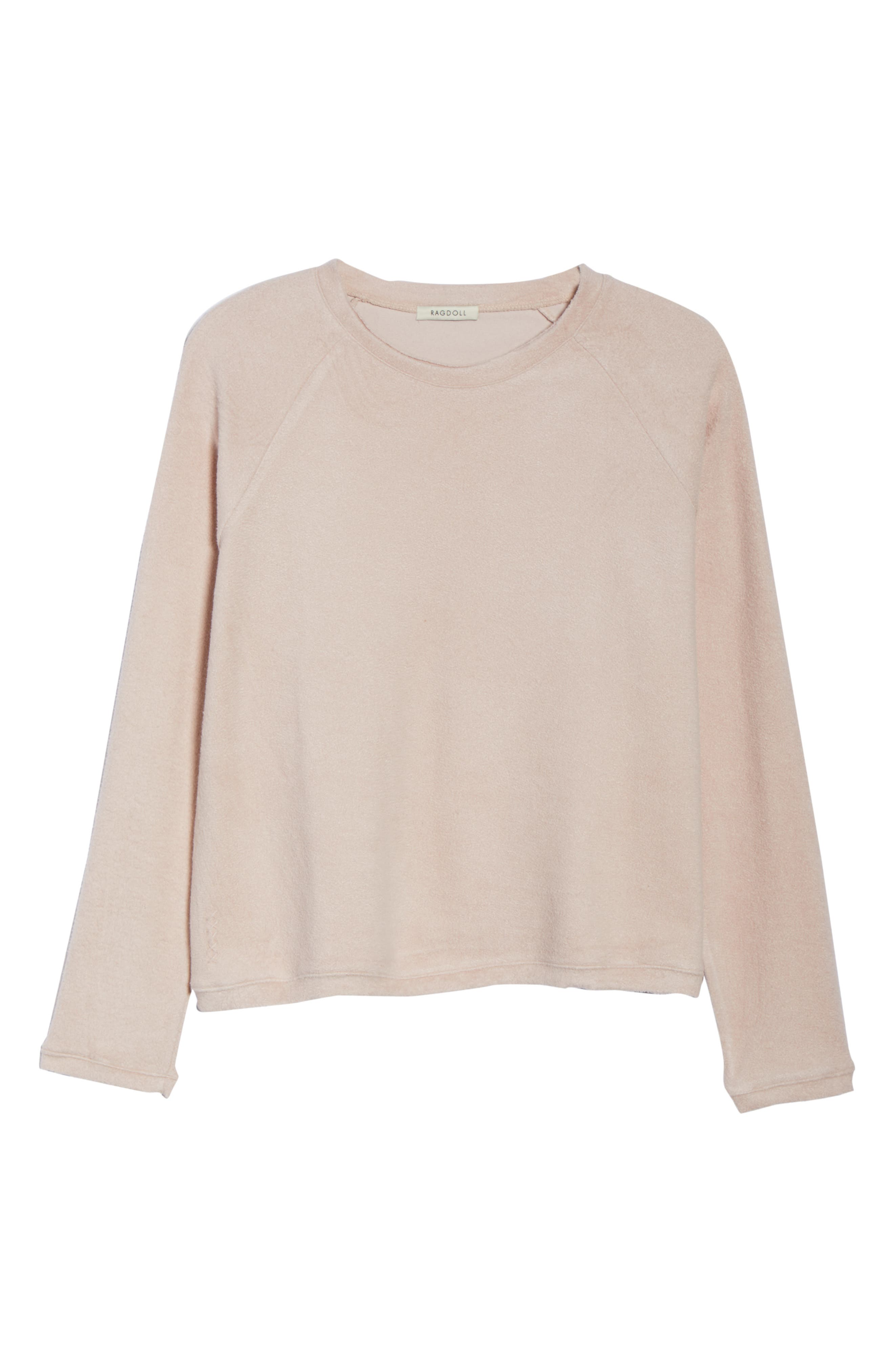 Slouchy Sweatshirt,                             Alternate thumbnail 5, color,                             Dusty Pink