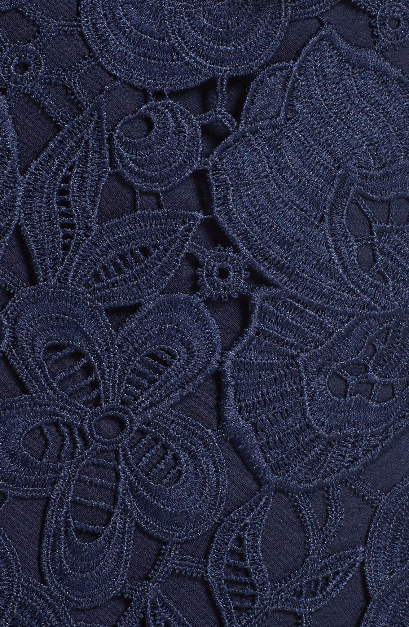 Lace Peplum Dress,                             Alternate thumbnail 5, color,                             Navy