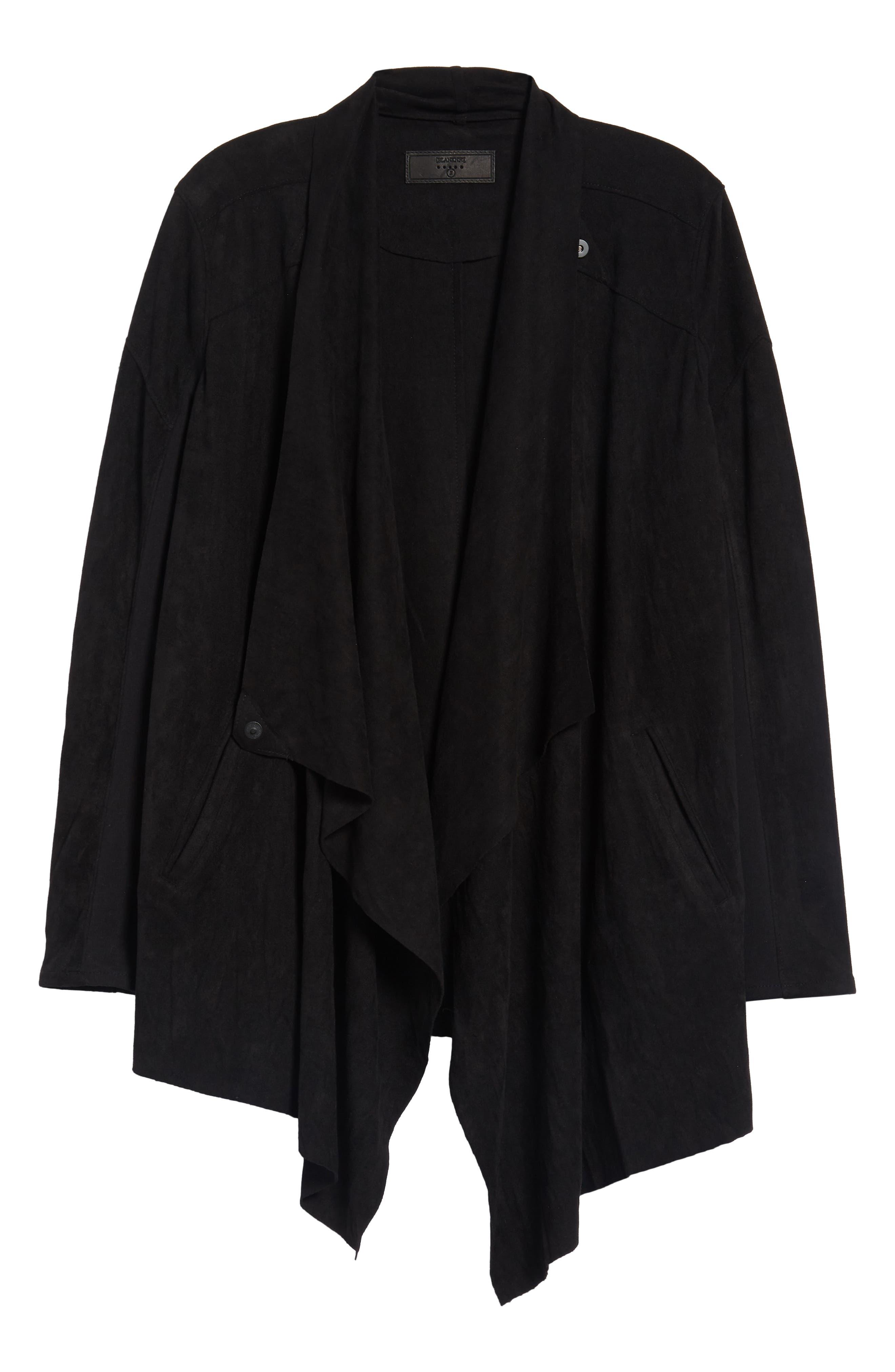 Cloud Nine Drape Jacket,                             Alternate thumbnail 7, color,                             Black