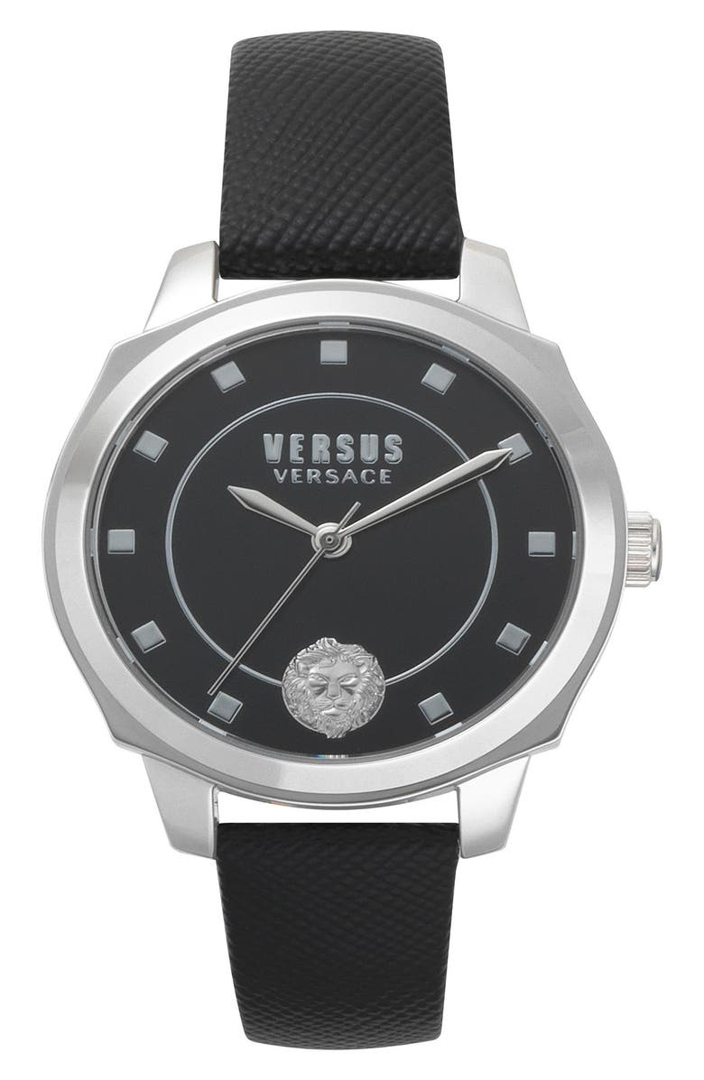 Versus CHELSEA LEATHER STRAP WATCH, 34MM