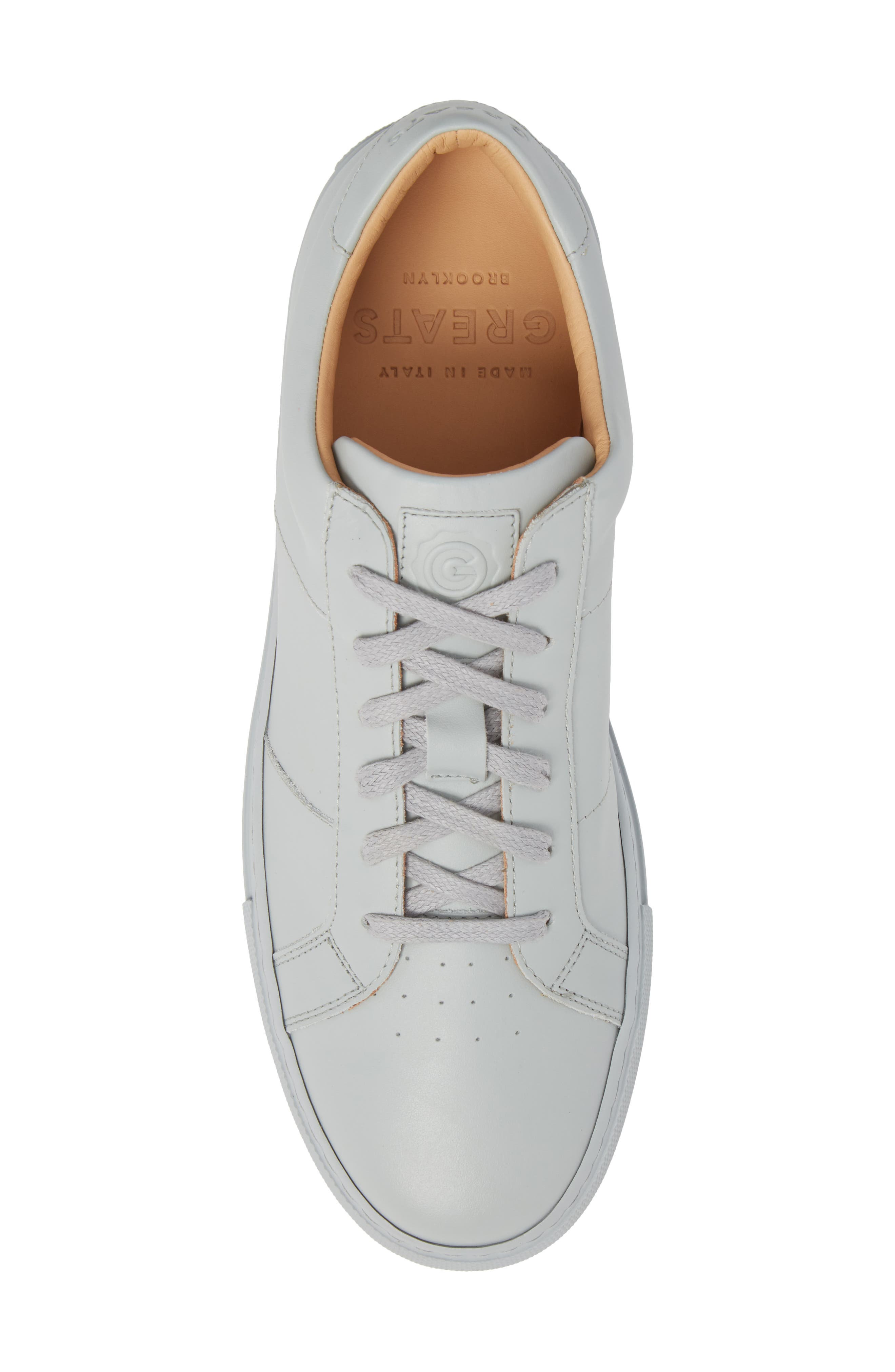 Royale Sneaker,                             Alternate thumbnail 5, color,                             Grey Tonal Leather