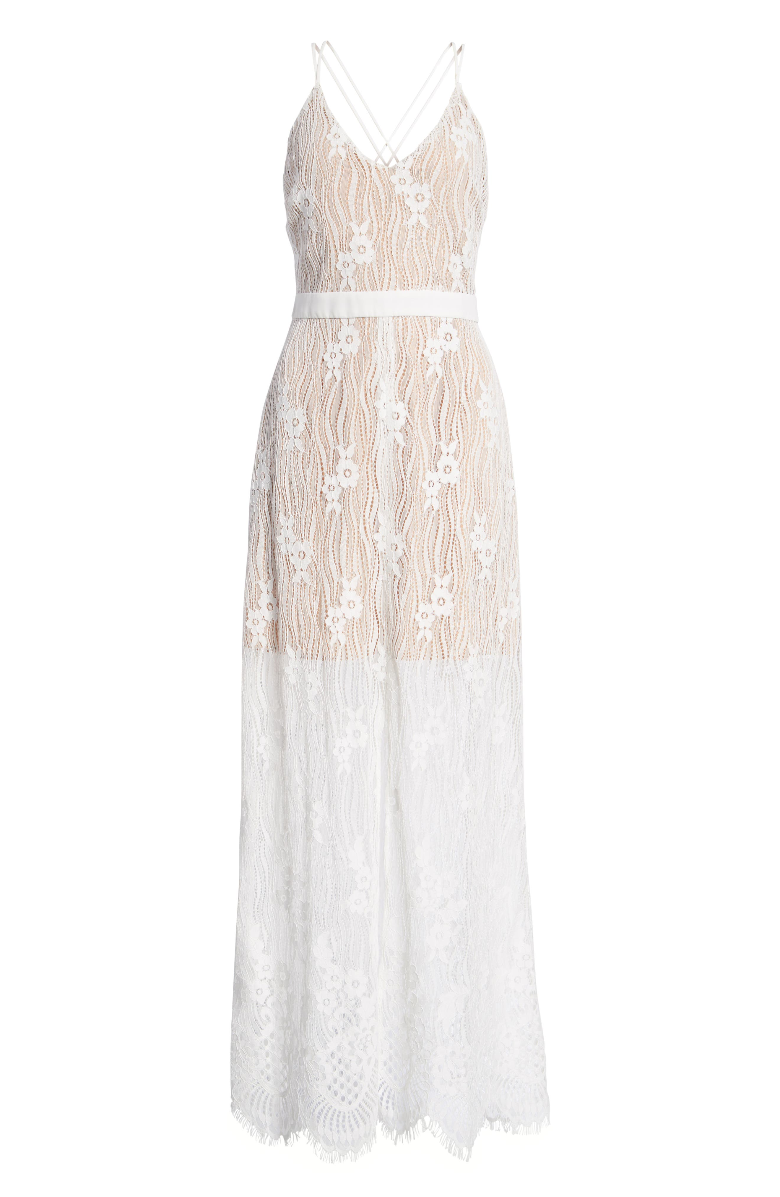 Blake Lace Maxi Dress,                             Alternate thumbnail 7, color,                             Ivory Lace
