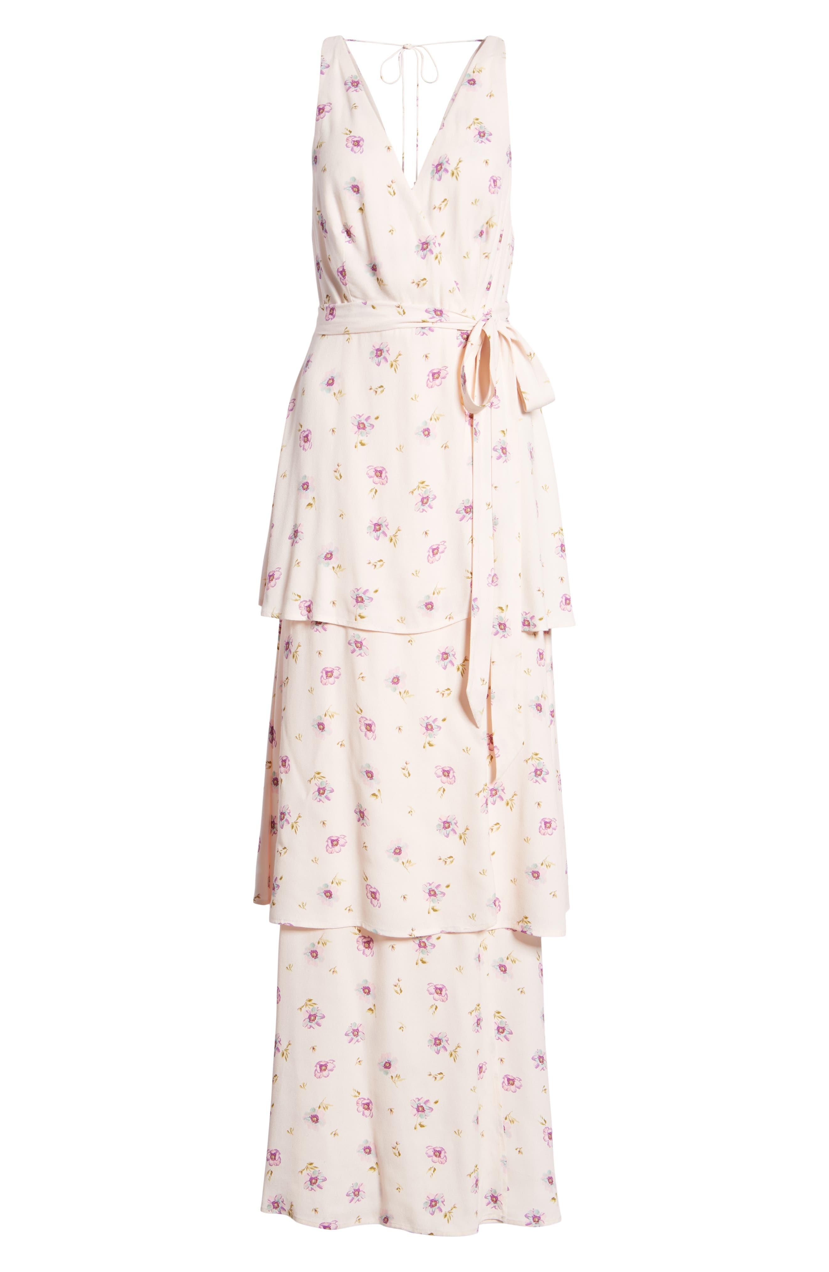 Rosa Wrap Maxi Dress,                             Alternate thumbnail 7, color,                             Lilac Floral