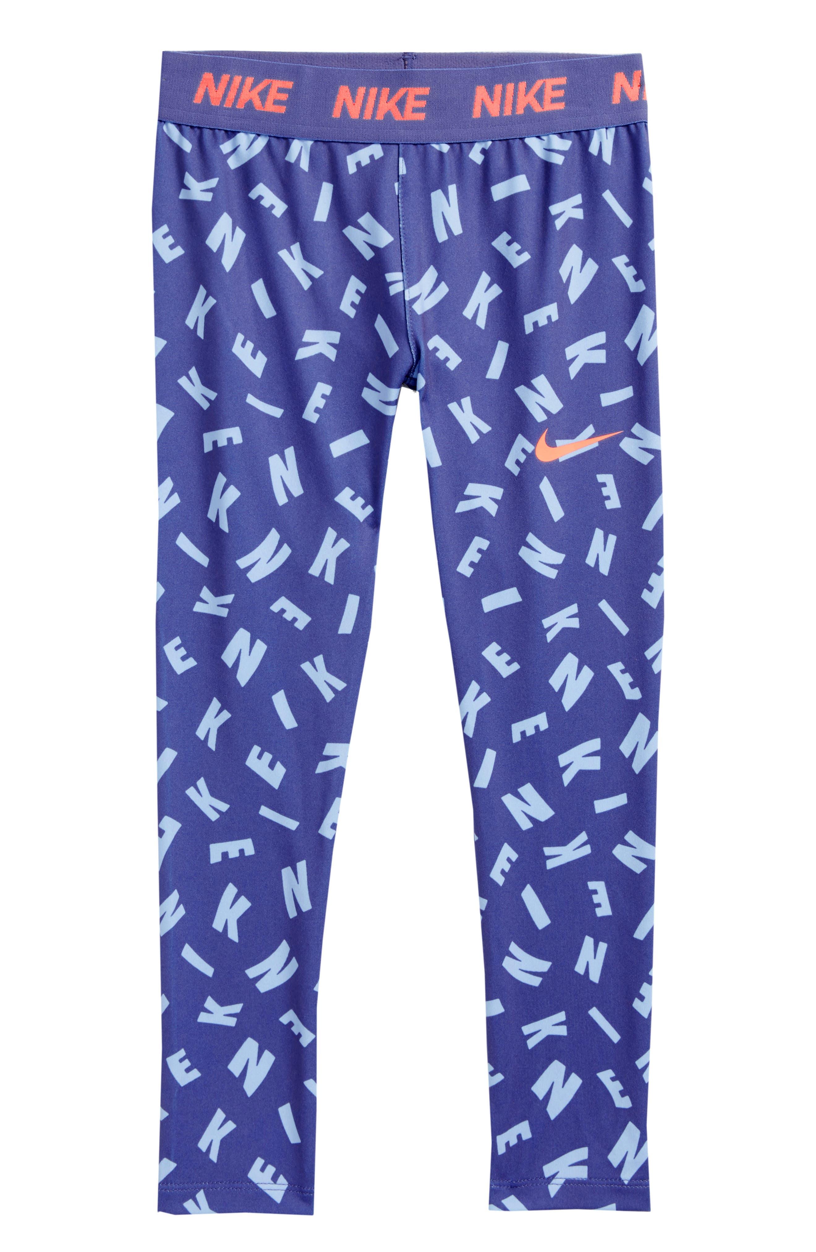 Essentials Print Capri Legging,                         Main,                         color, Purple Slate