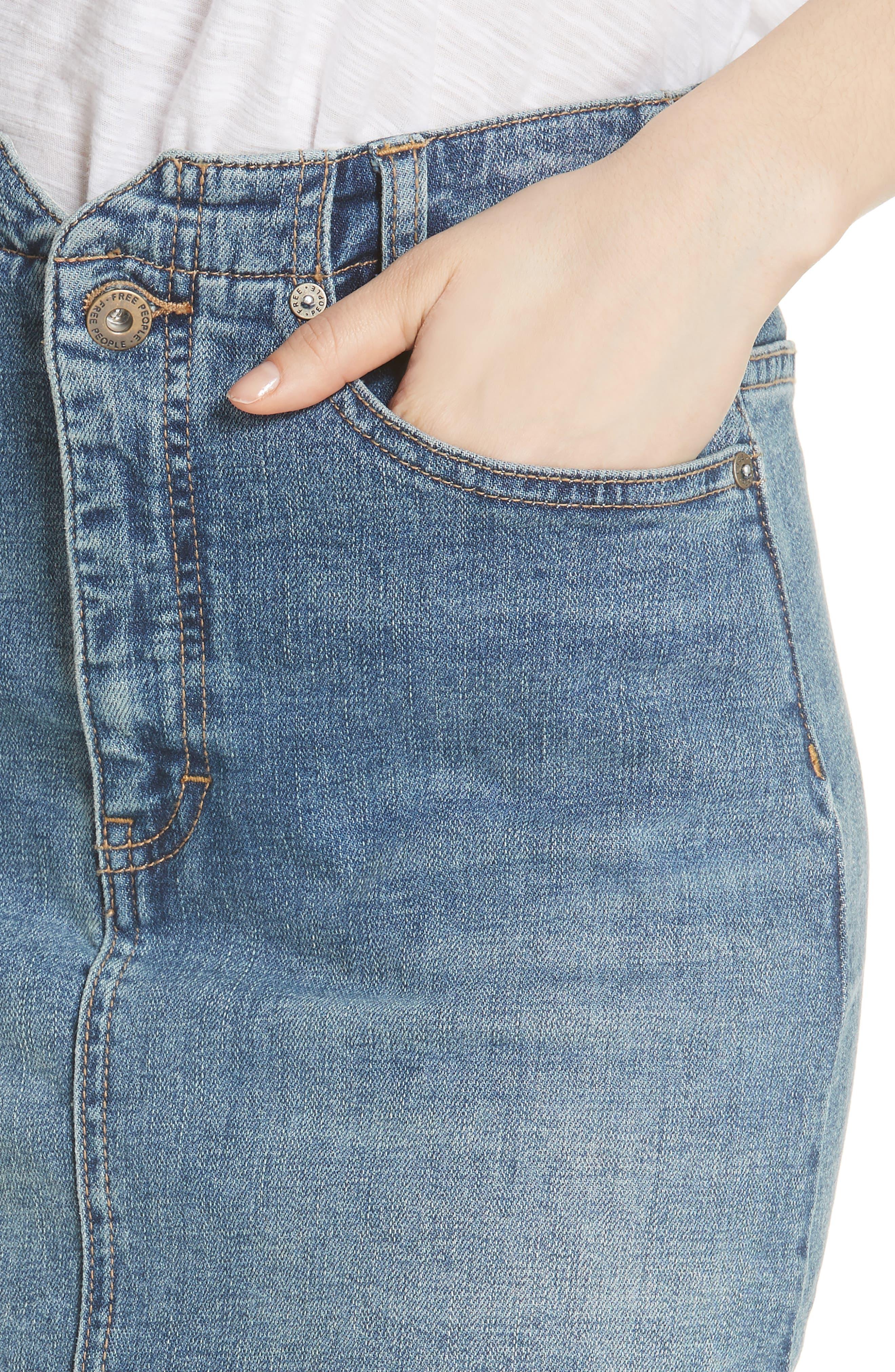 She's All That Denim Miniskirt,                             Alternate thumbnail 4, color,                             Denim Blue