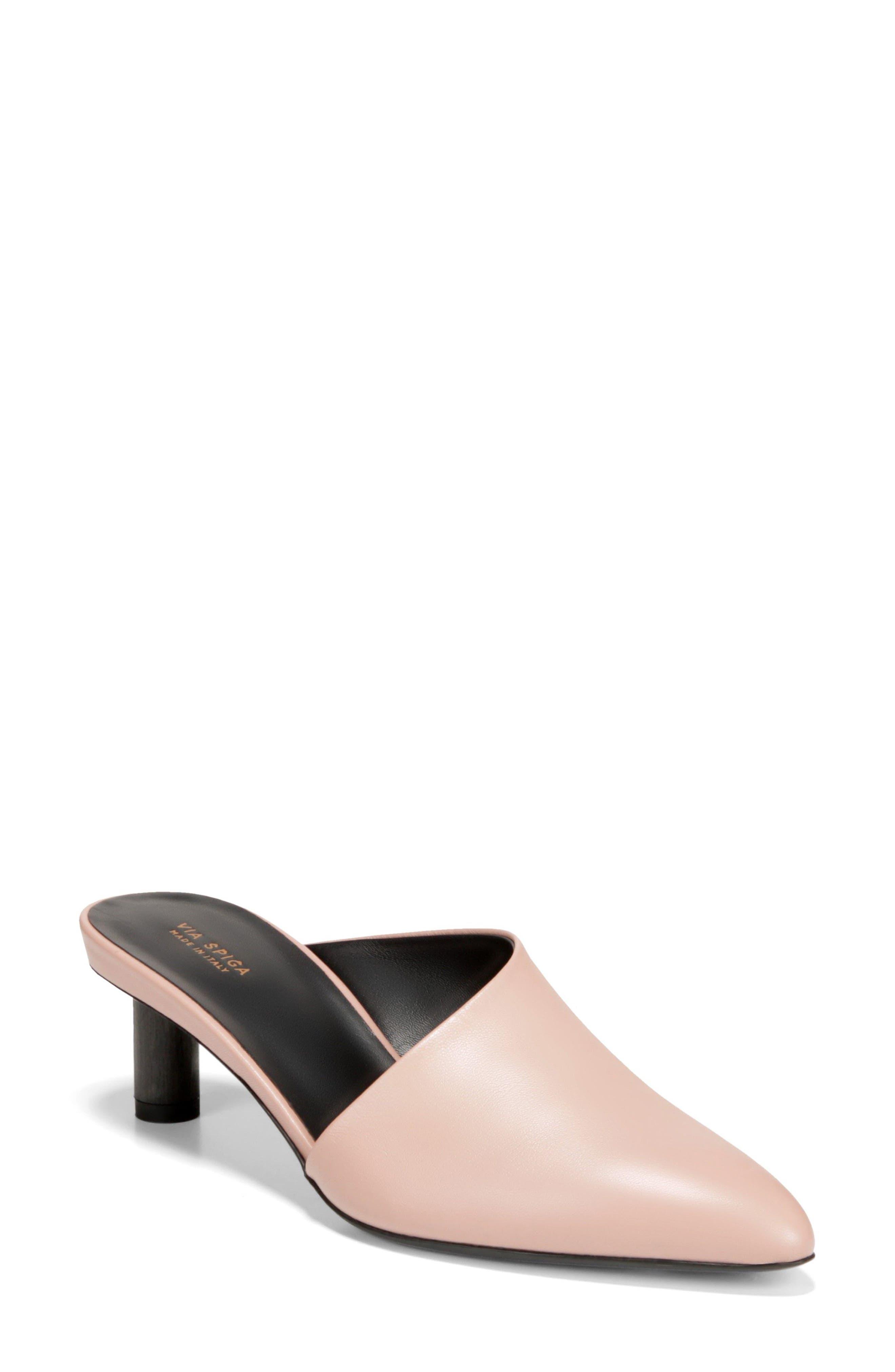 Freya Asymmetrical Mule,                             Main thumbnail 1, color,                             Sand Leather