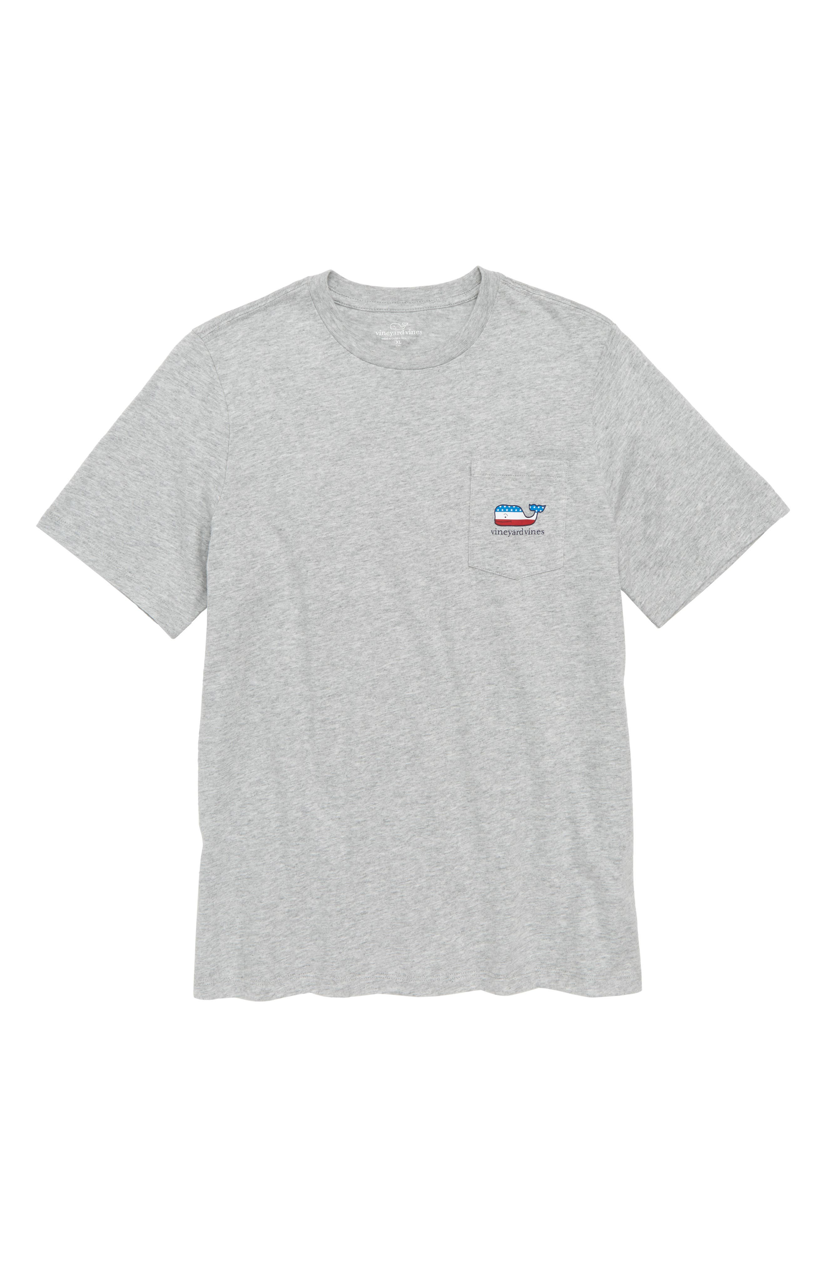 vineyard vines USA Whale Pocket T-Shirt (Big Boys)