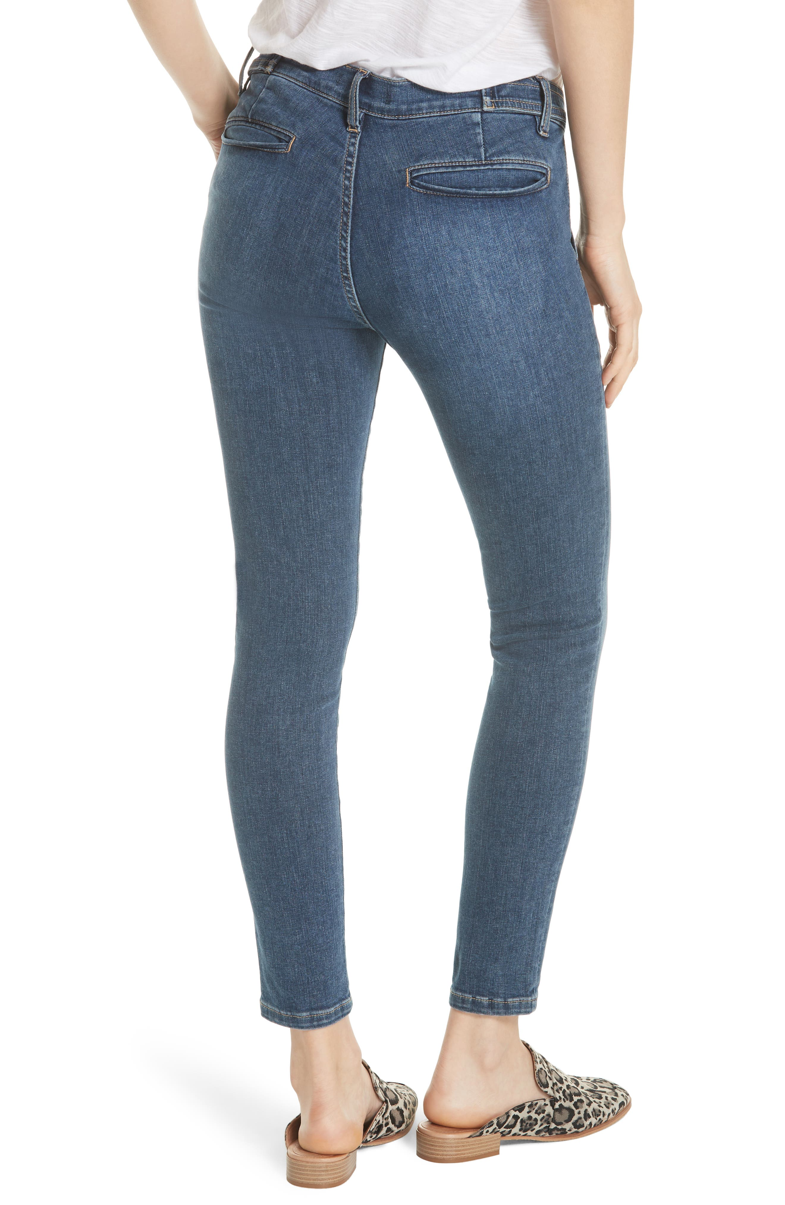 We the Free by Free People Stratford Skinny Jeans,                             Alternate thumbnail 2, color,                             Blue