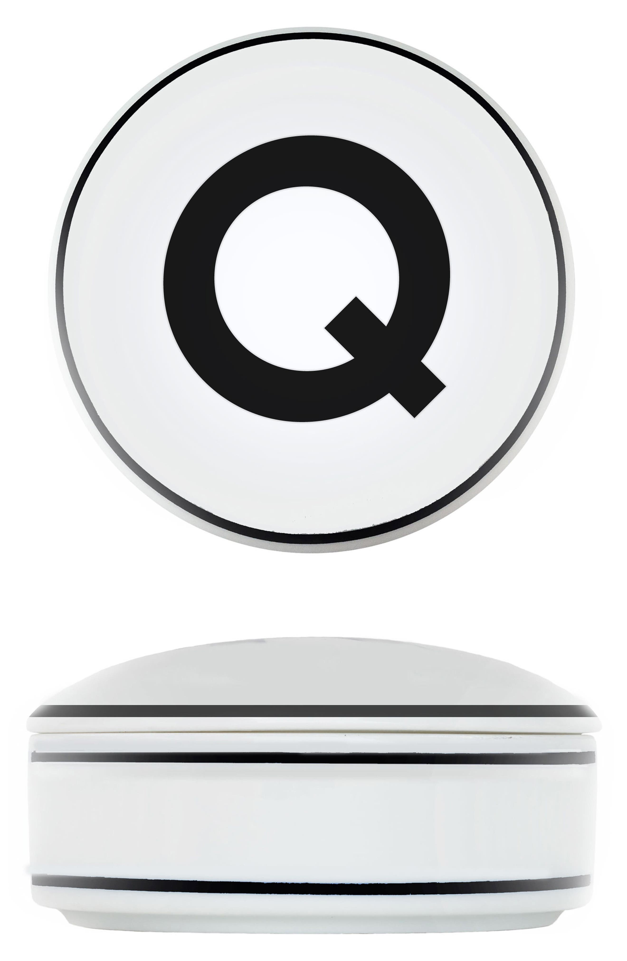 Porcelain Initial Keepsake Box,                         Main,                         color, Q