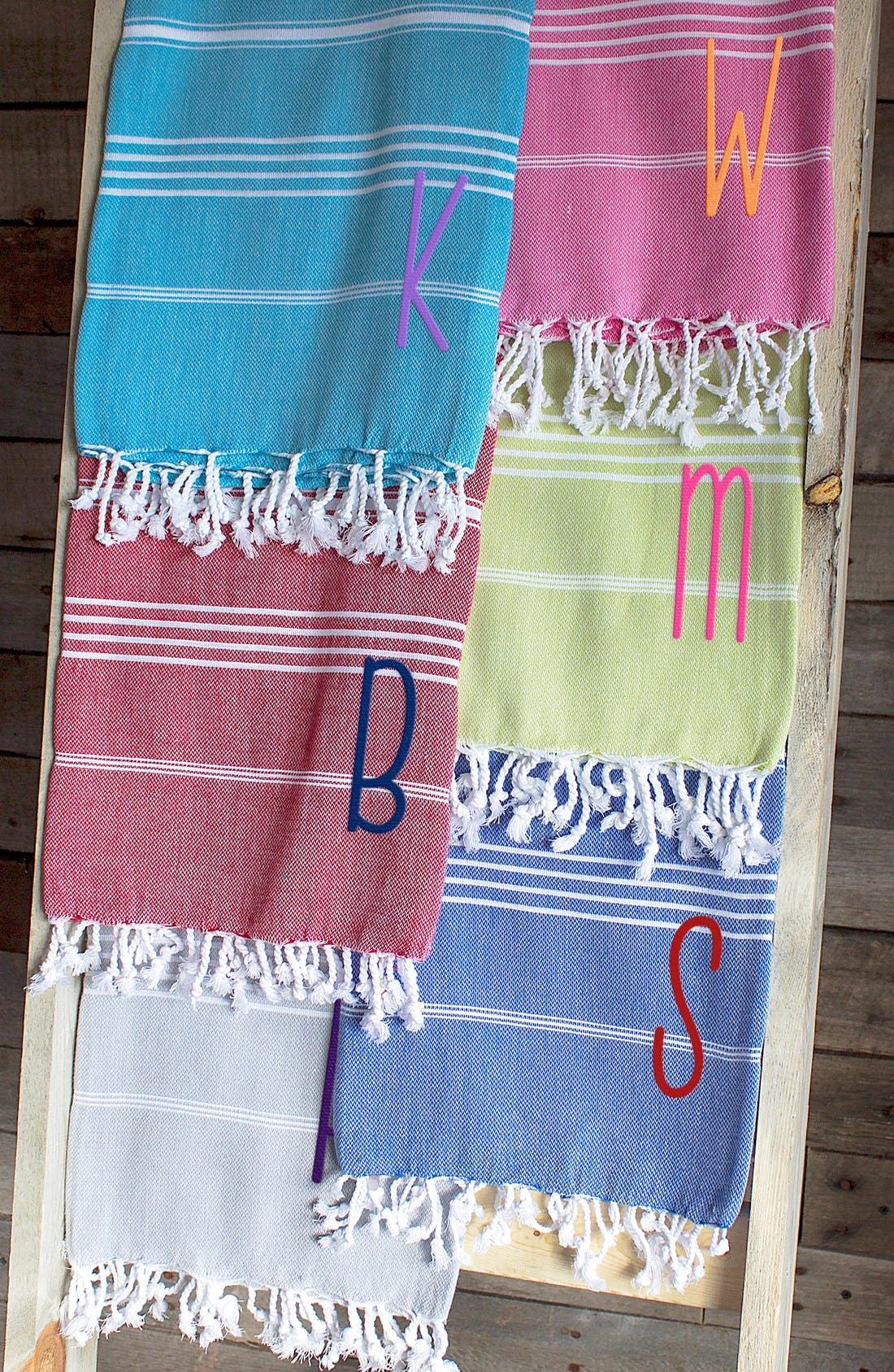 Monogram Turkish Cotton Towel,                             Alternate thumbnail 2, color,