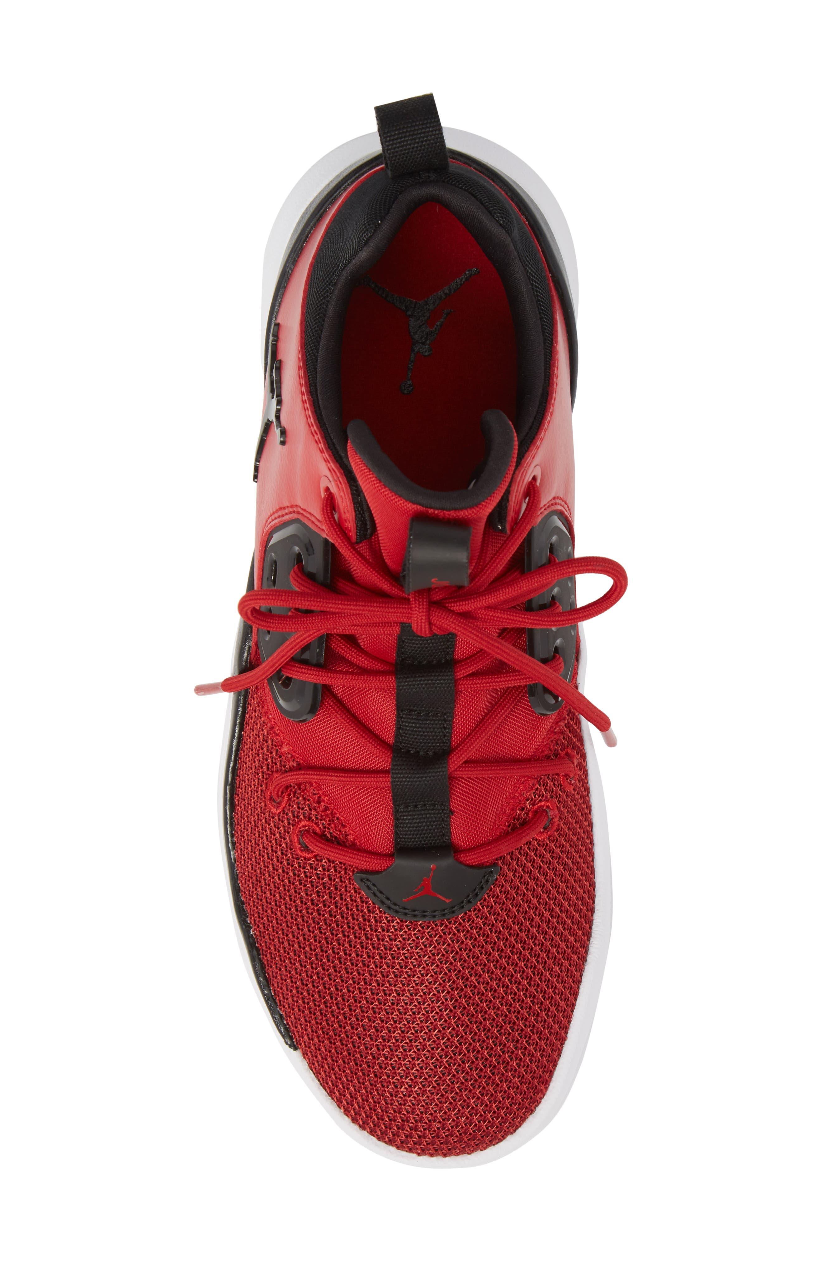 Jordan DNA Sneaker,                             Alternate thumbnail 4, color,                             Gym Red/ Black/ White