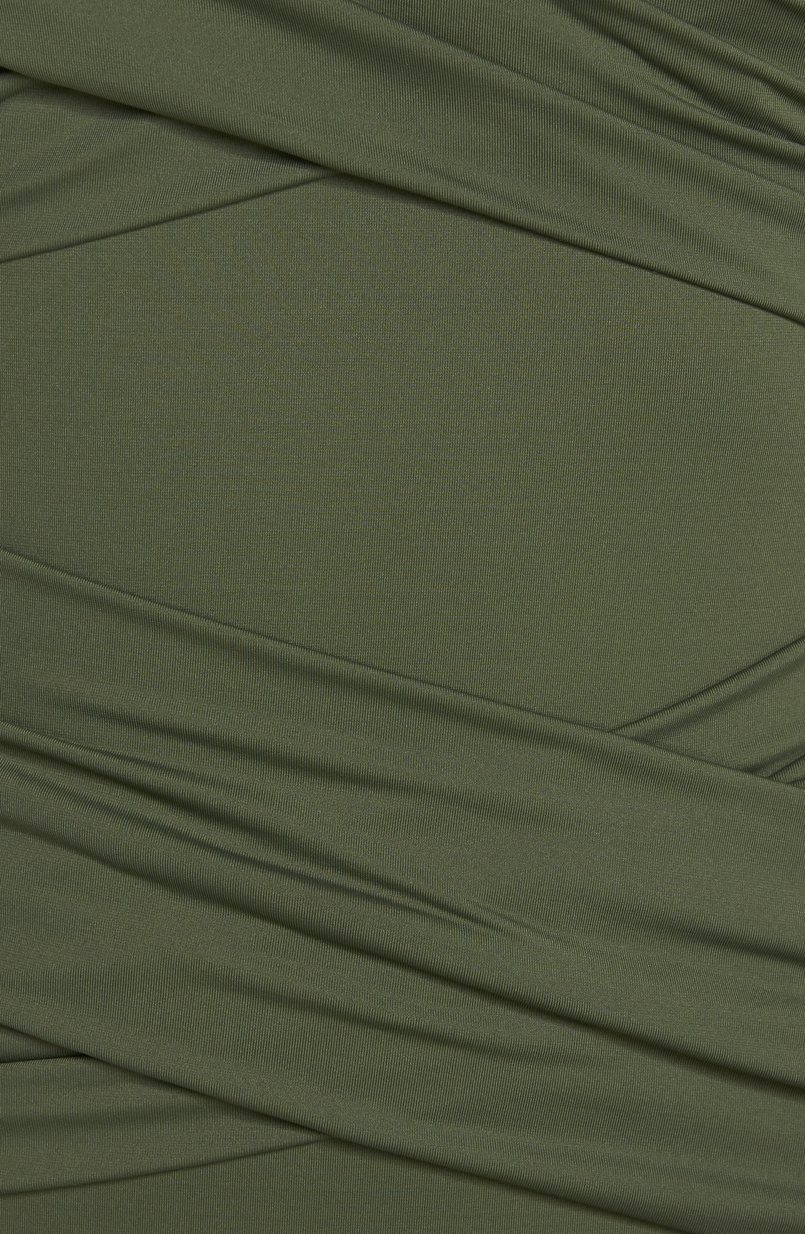 Pearl One-Piece Swimsuit,                             Alternate thumbnail 5, color,                             Dark Tea Leaf