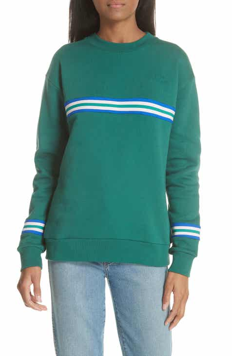 ?tre c?cile Rib Stripe Boyfriend Sweatshirt
