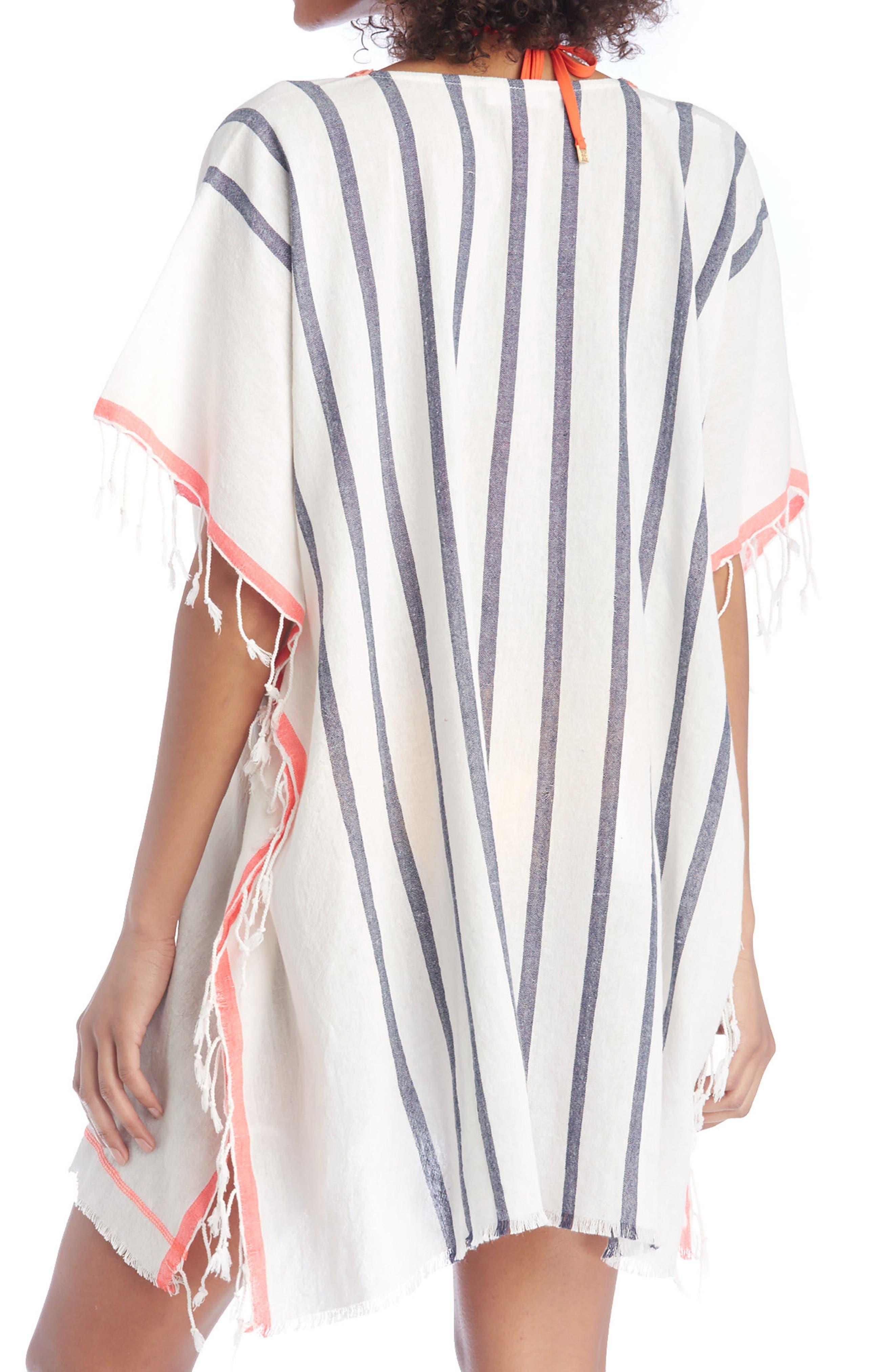 Stripe Poncho,                             Alternate thumbnail 2, color,                             Multi