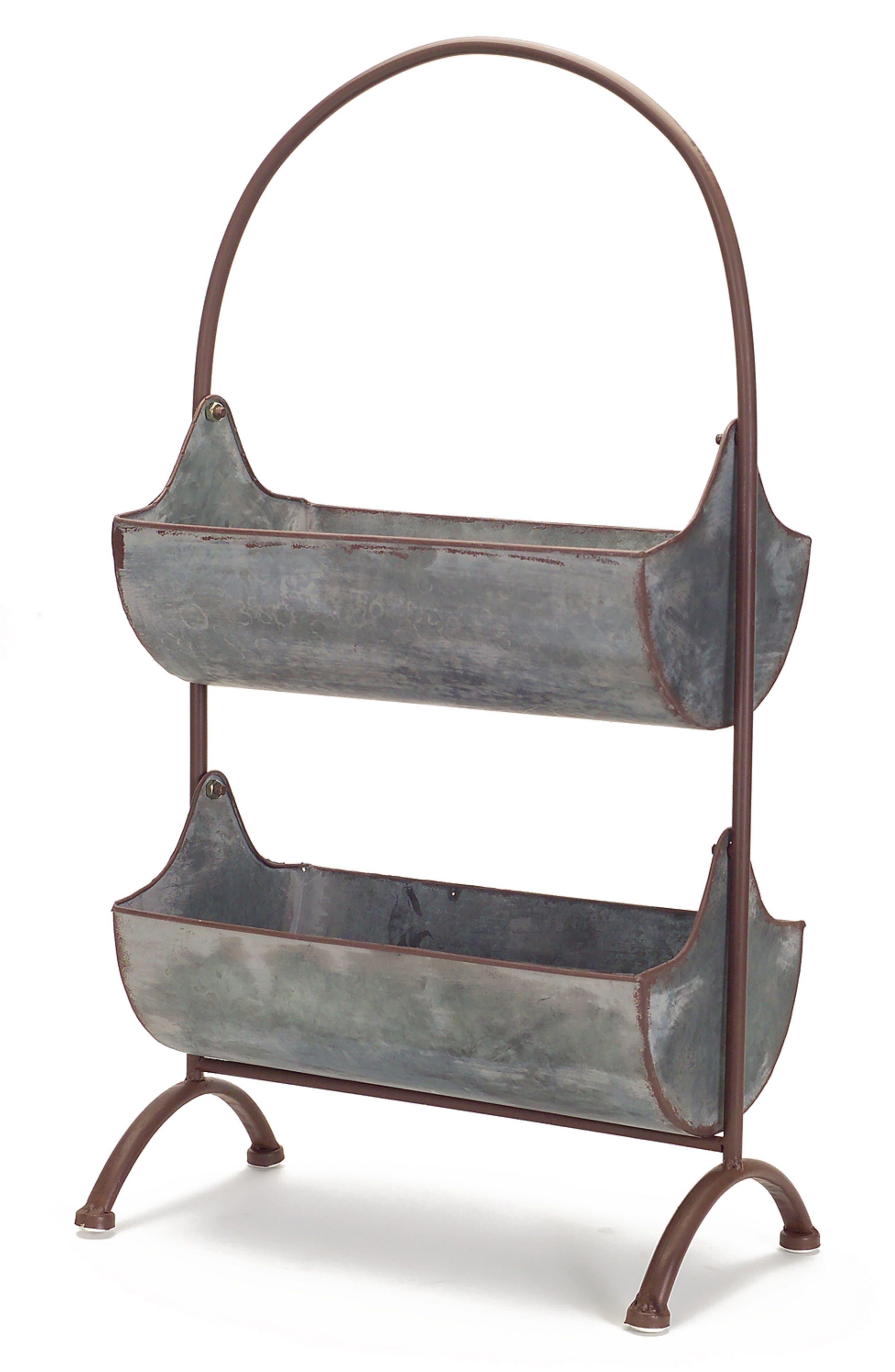 Hanging Baskets Stand,                             Main thumbnail 1, color,                             Grey