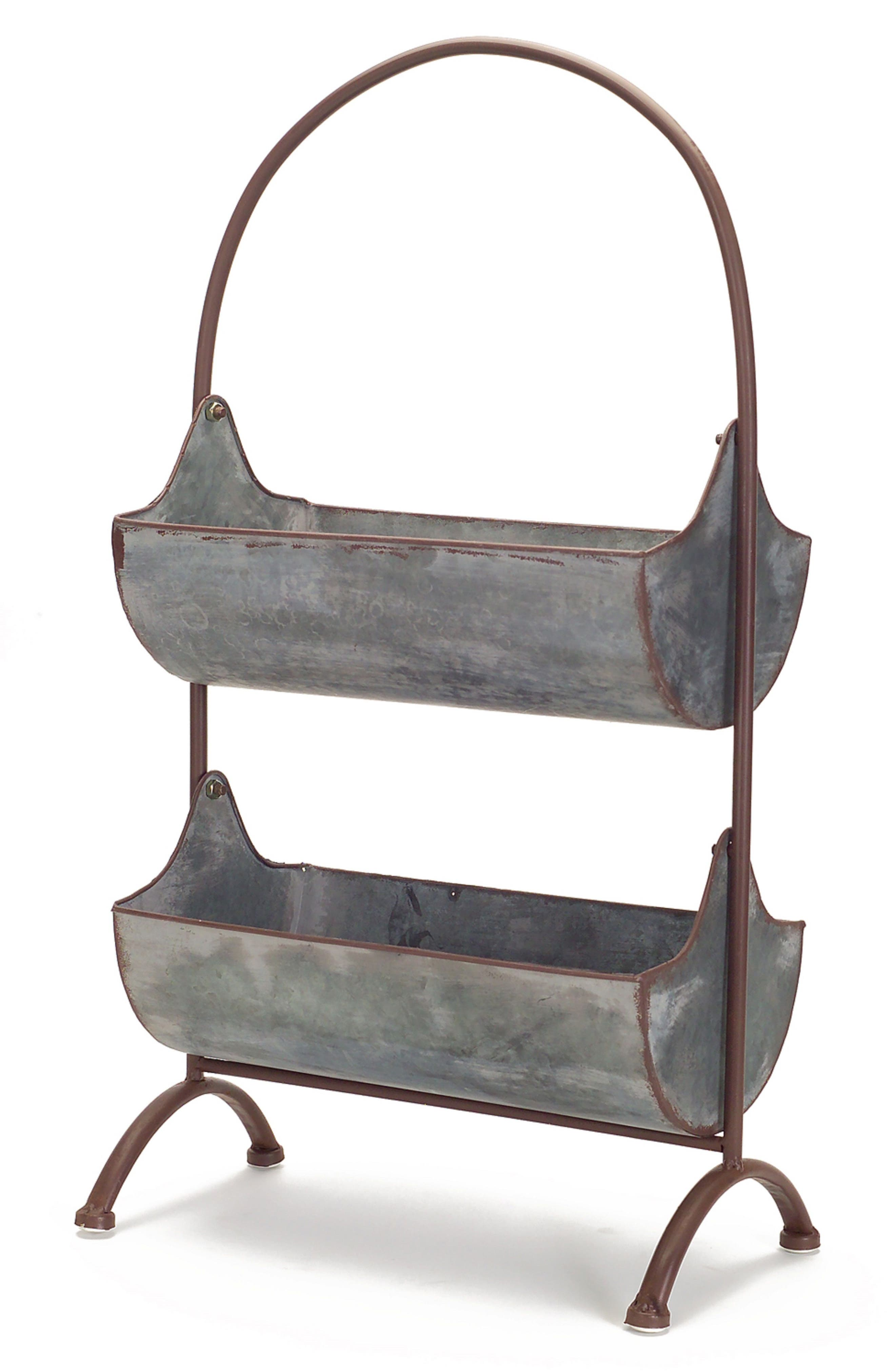 Hanging Baskets Stand,                         Main,                         color, Grey