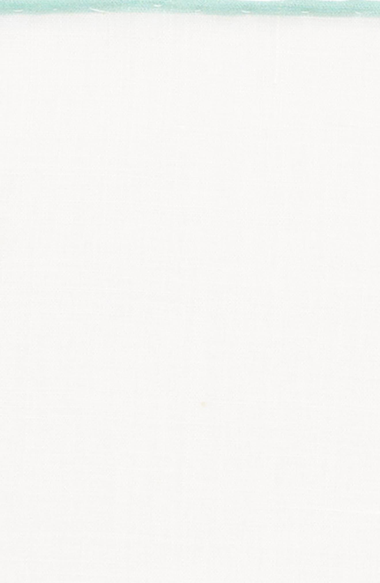 Linen Pocket Square,                             Alternate thumbnail 3, color,                             White/ Spearmint