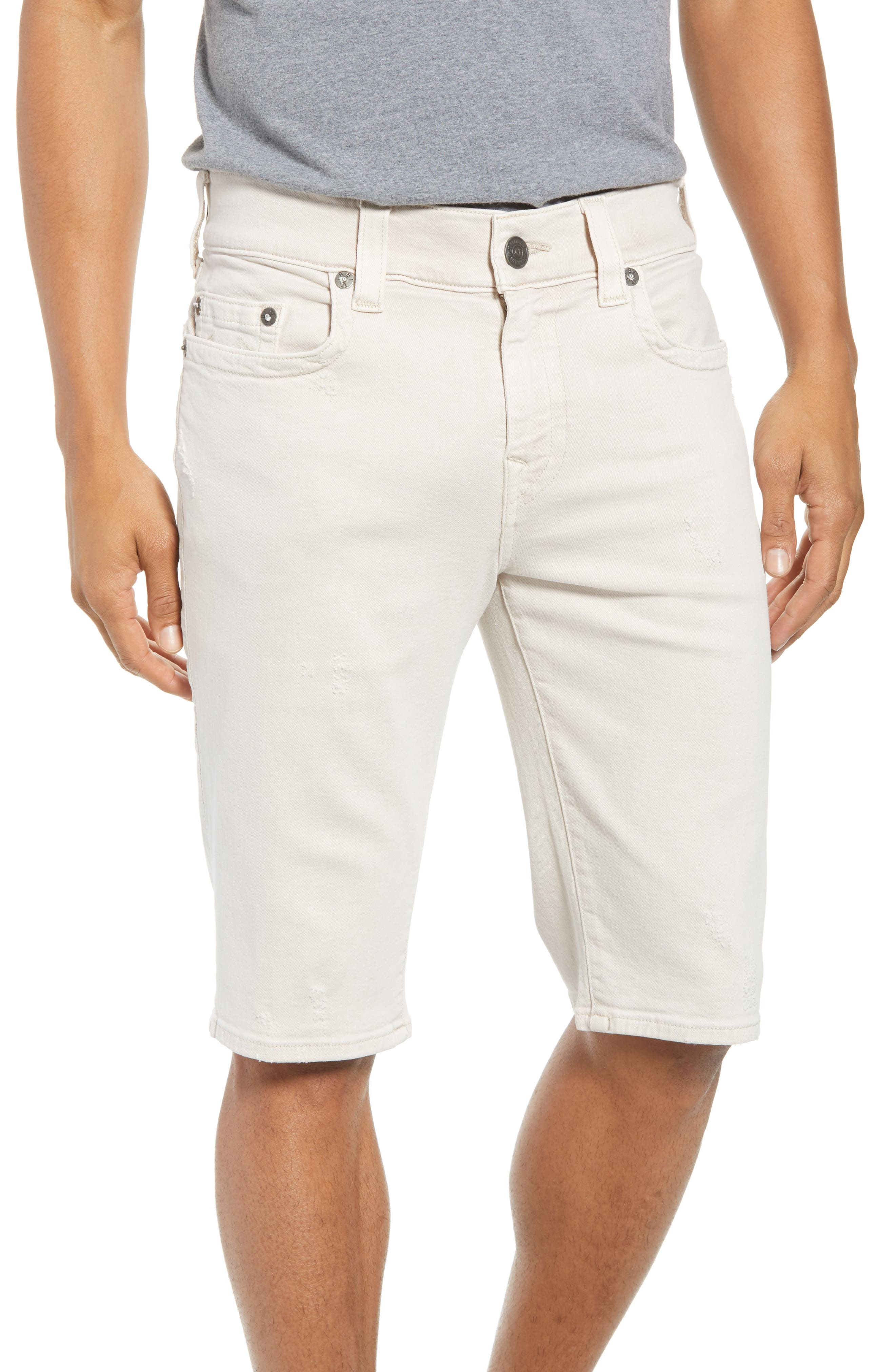 True Religion Brand Jeans Ricky Relaxed Fit Denim Shorts (Clay)