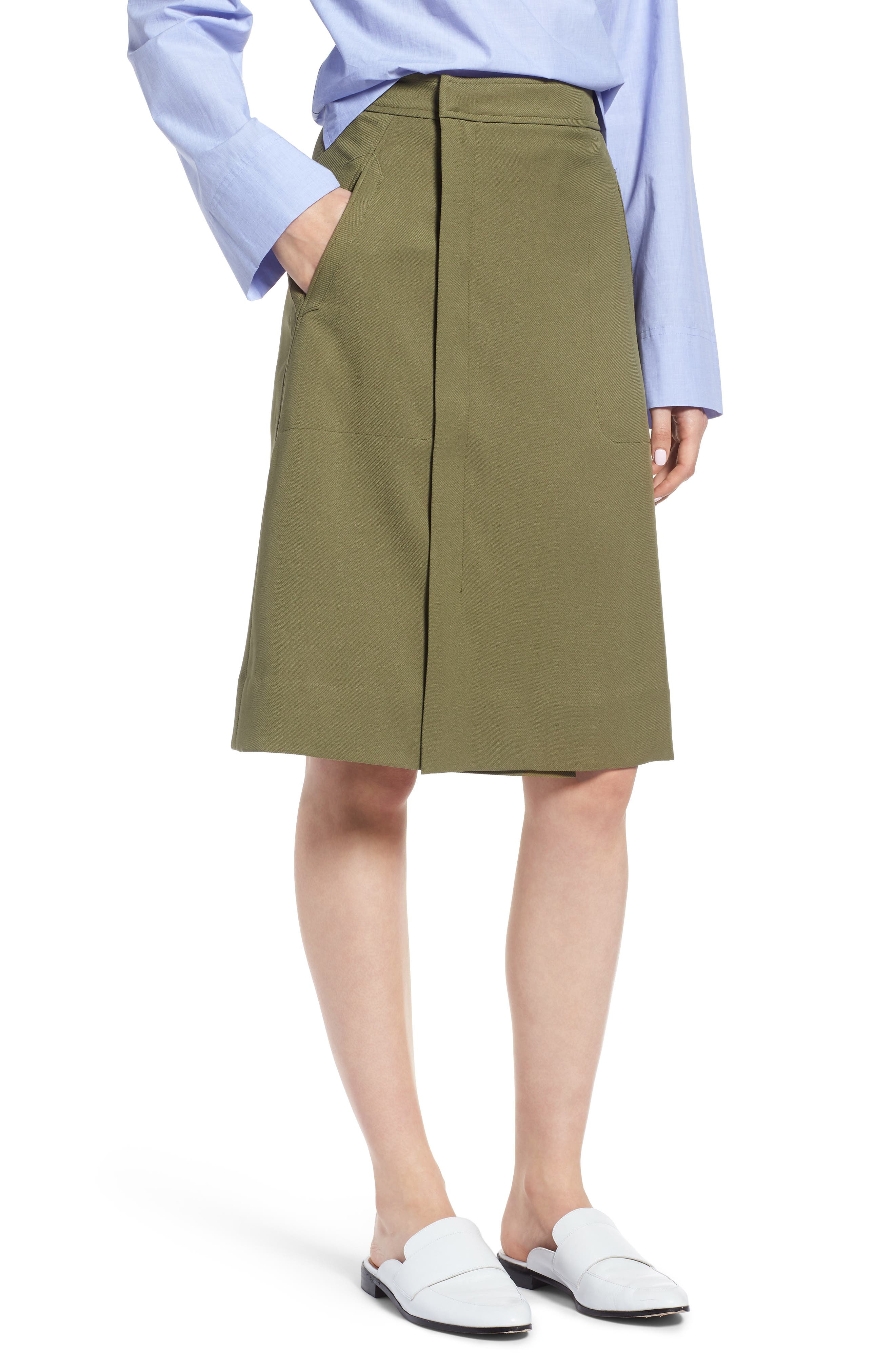 KIKI FAUX WRAP SKIRT