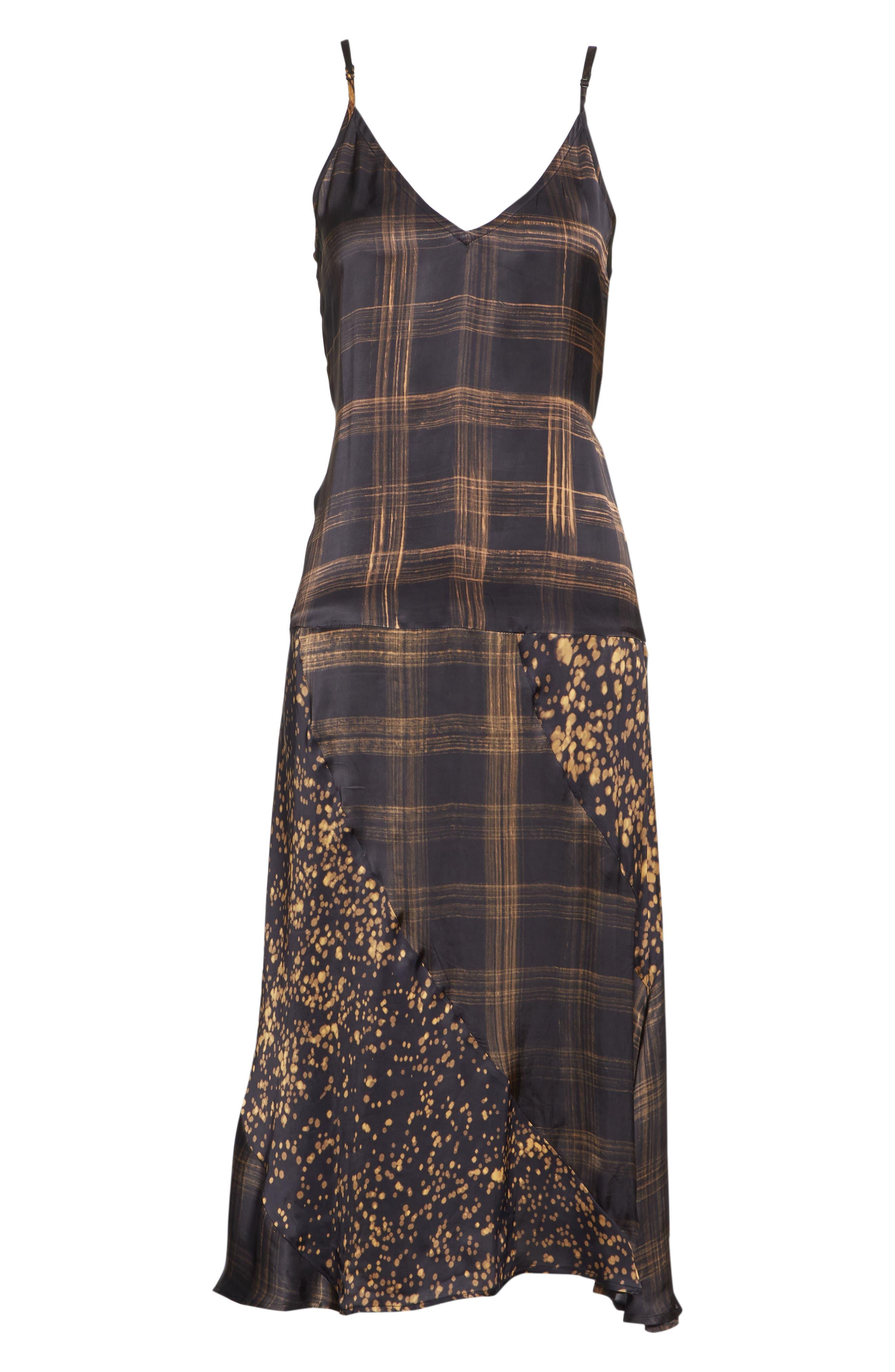 Gambetta Printed Midi Dress,                             Alternate thumbnail 6, color,                             Black Mix