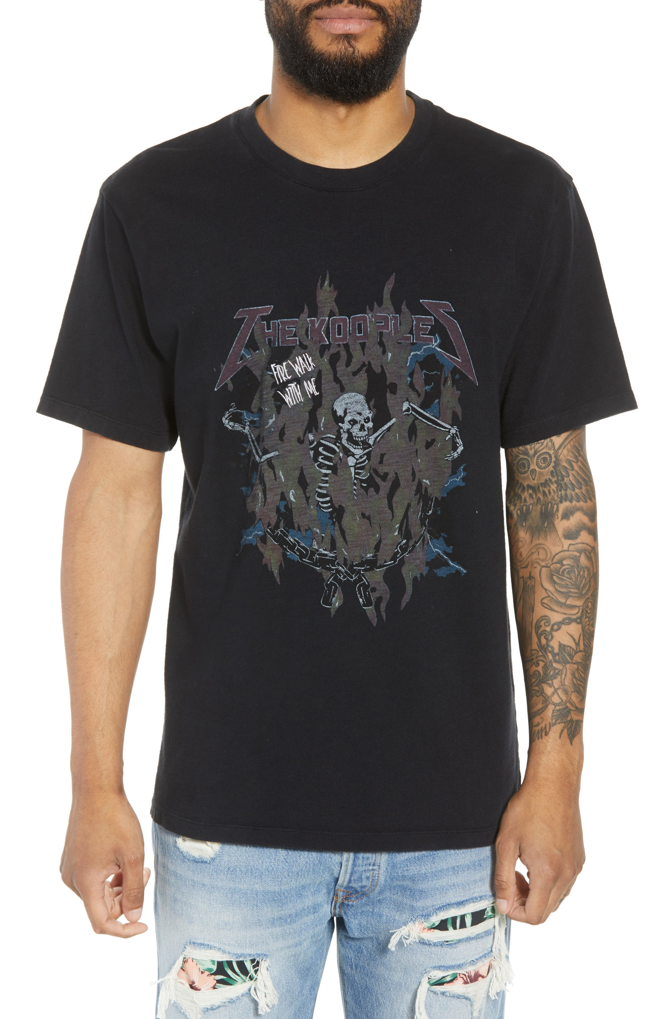 THE KOOPLES FIRE WALK WITH ME GRAPHIC T-SHIRT