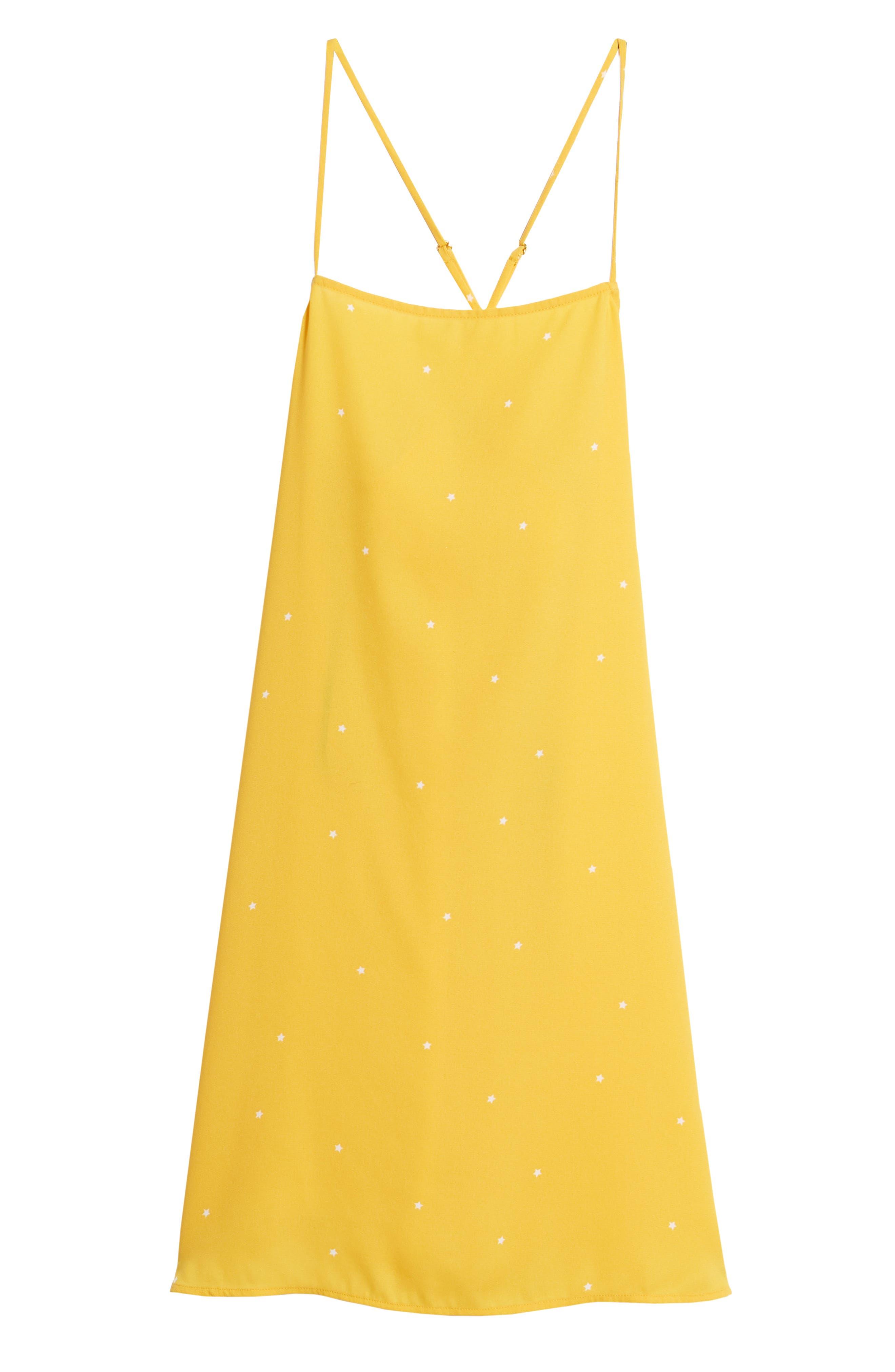 Mental 4 Metal Star Print Dress,                             Alternate thumbnail 7, color,                             Citrus Gold