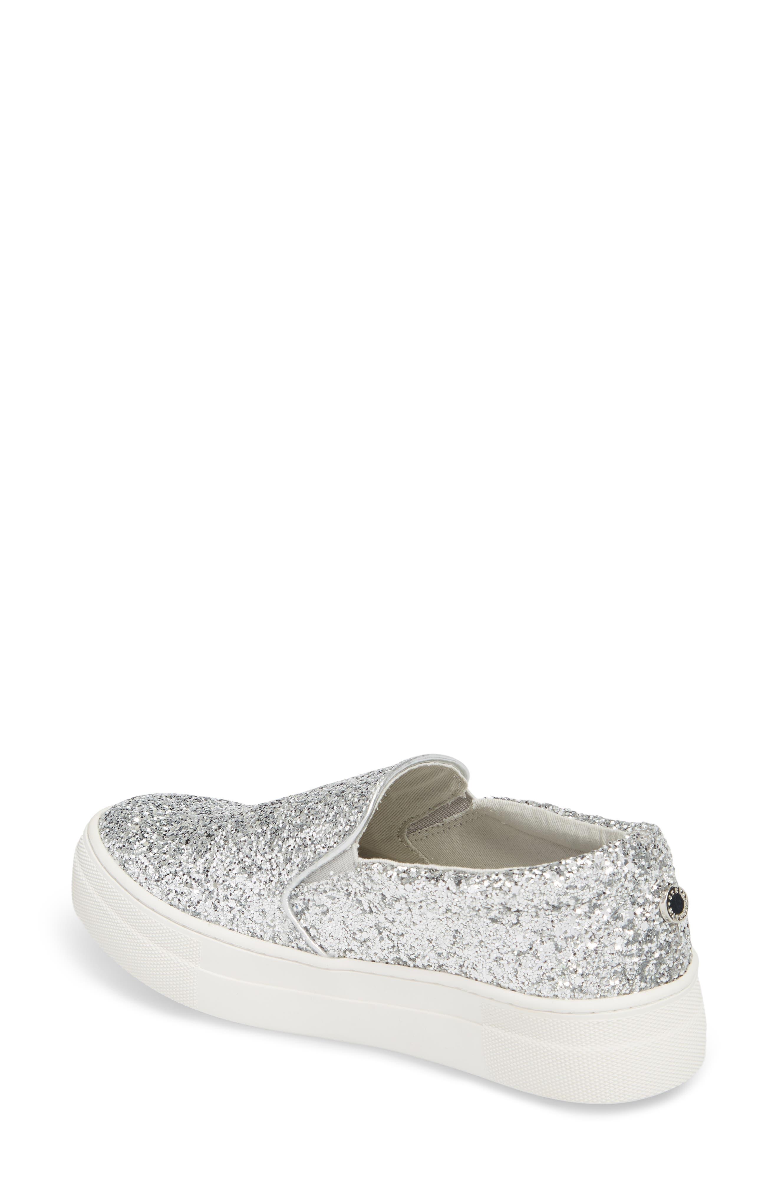 Gills Platform Slip-On Sneaker,                             Alternate thumbnail 2, color,                             Silver Glitter