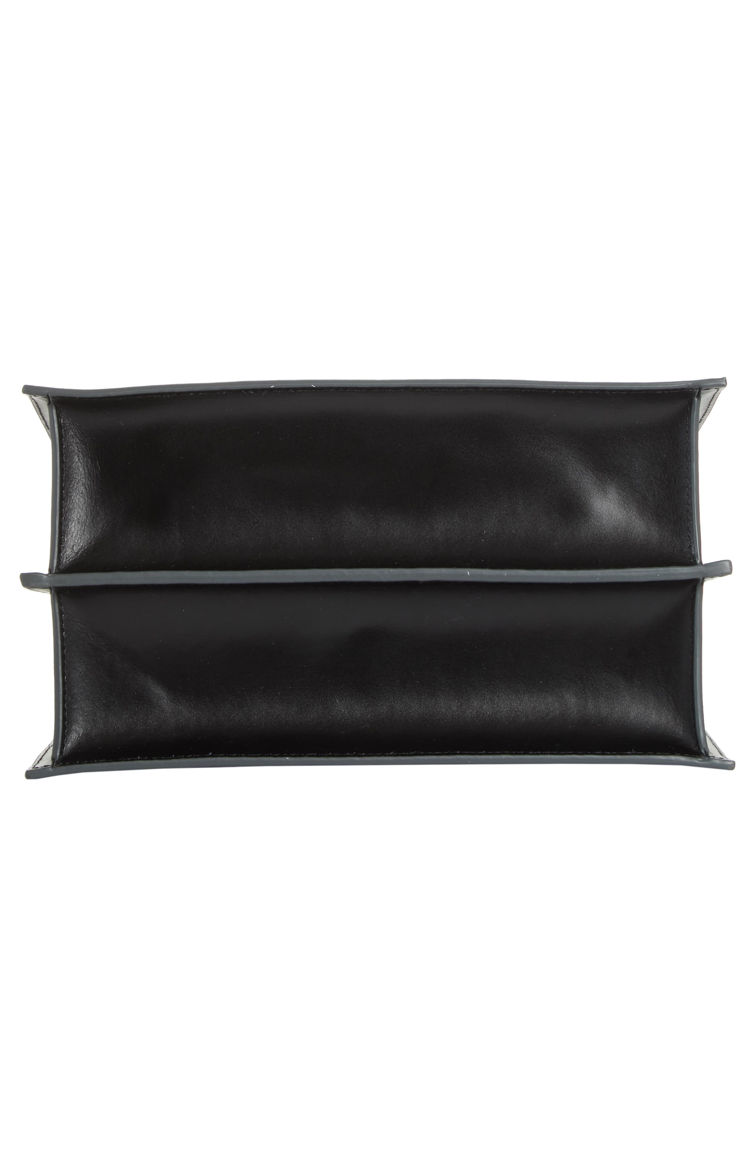 Phoebe Leather Crossbody Bag,                             Alternate thumbnail 6, color,                             Black