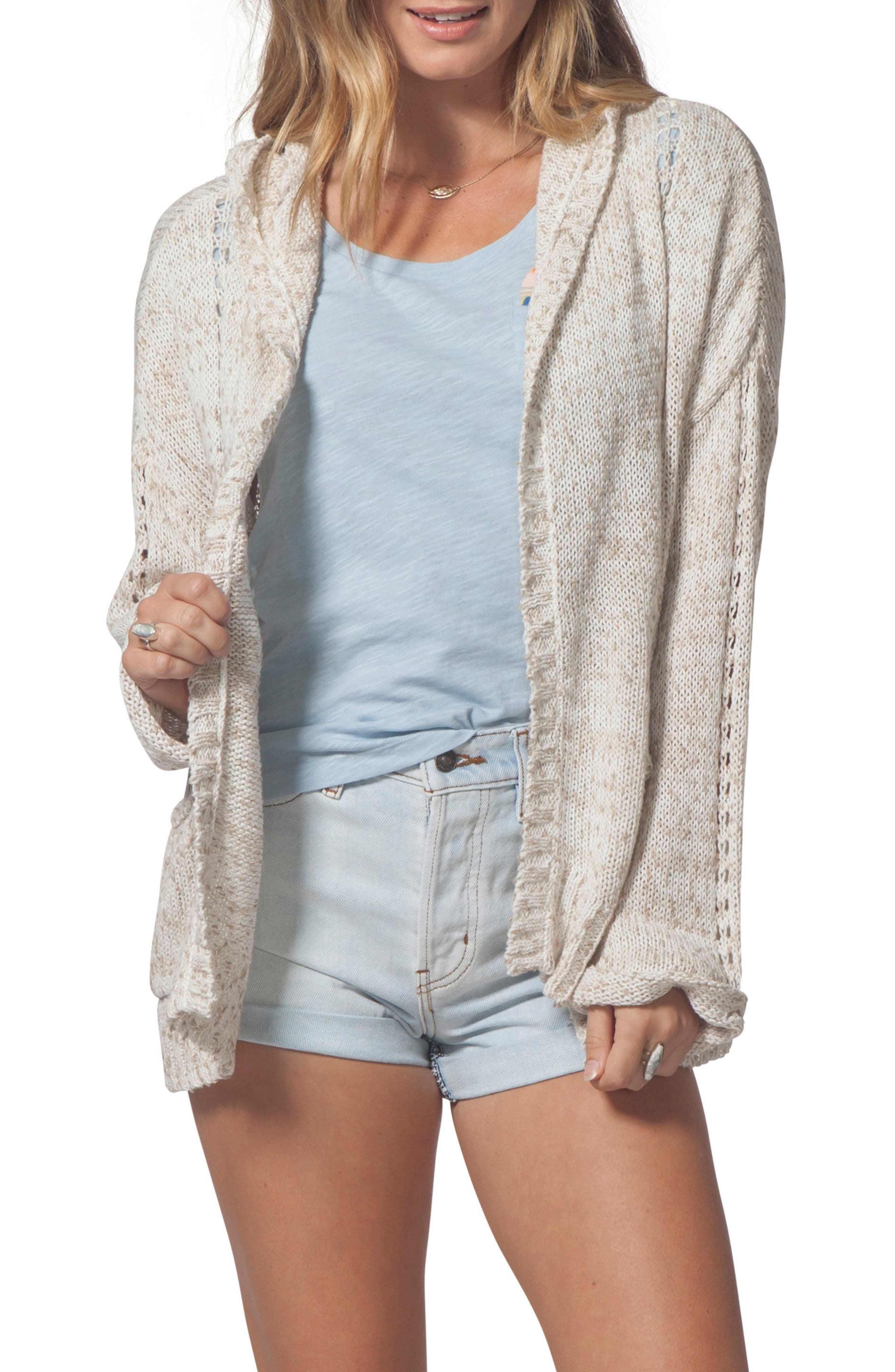 Swing By Hooded Cardigan,                         Main,                         color, Natural
