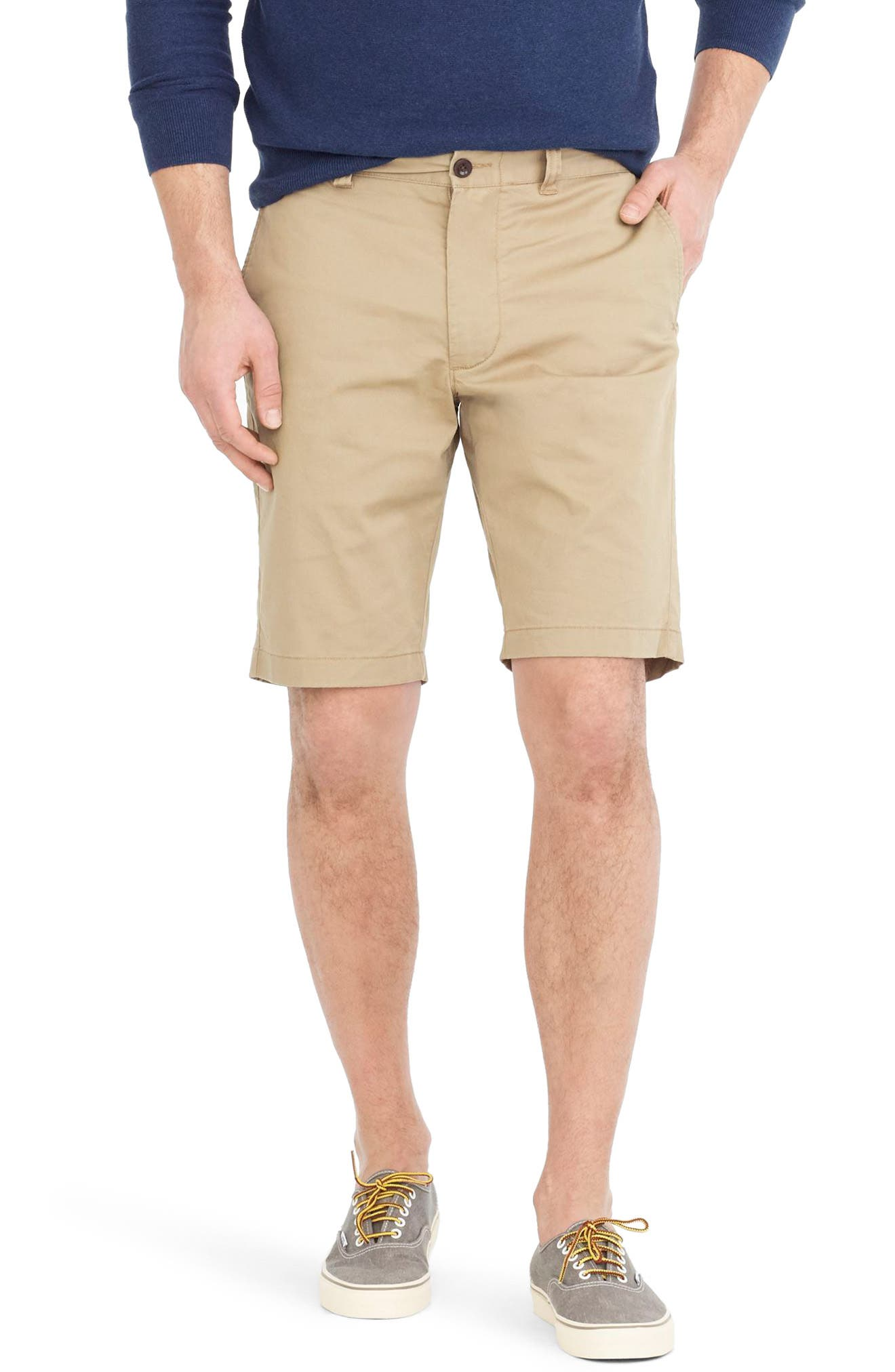 Stretch Shorts,                             Main thumbnail 1, color,                             Dusty Khaki