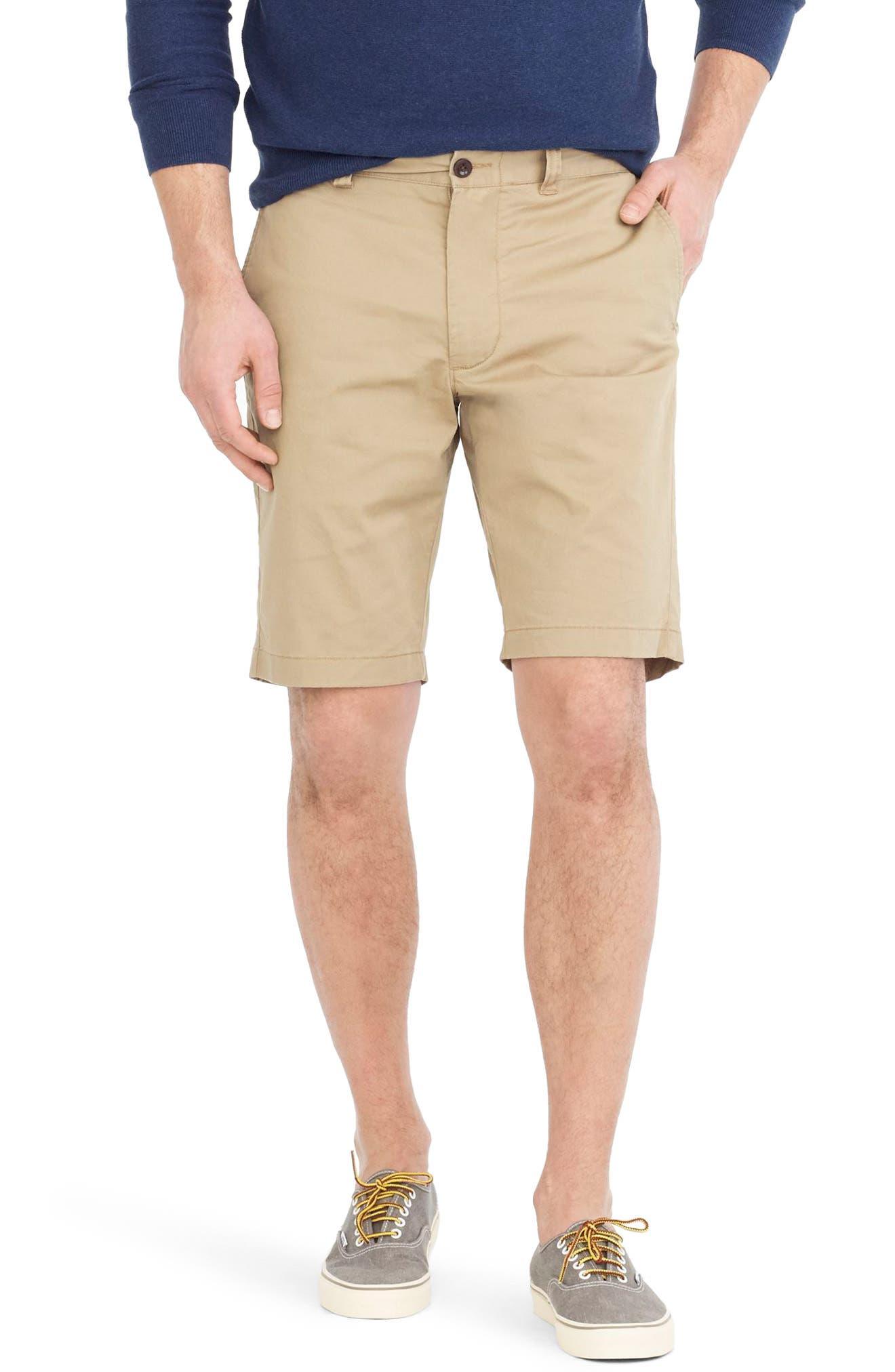 Stretch Shorts,                         Main,                         color, Dusty Khaki
