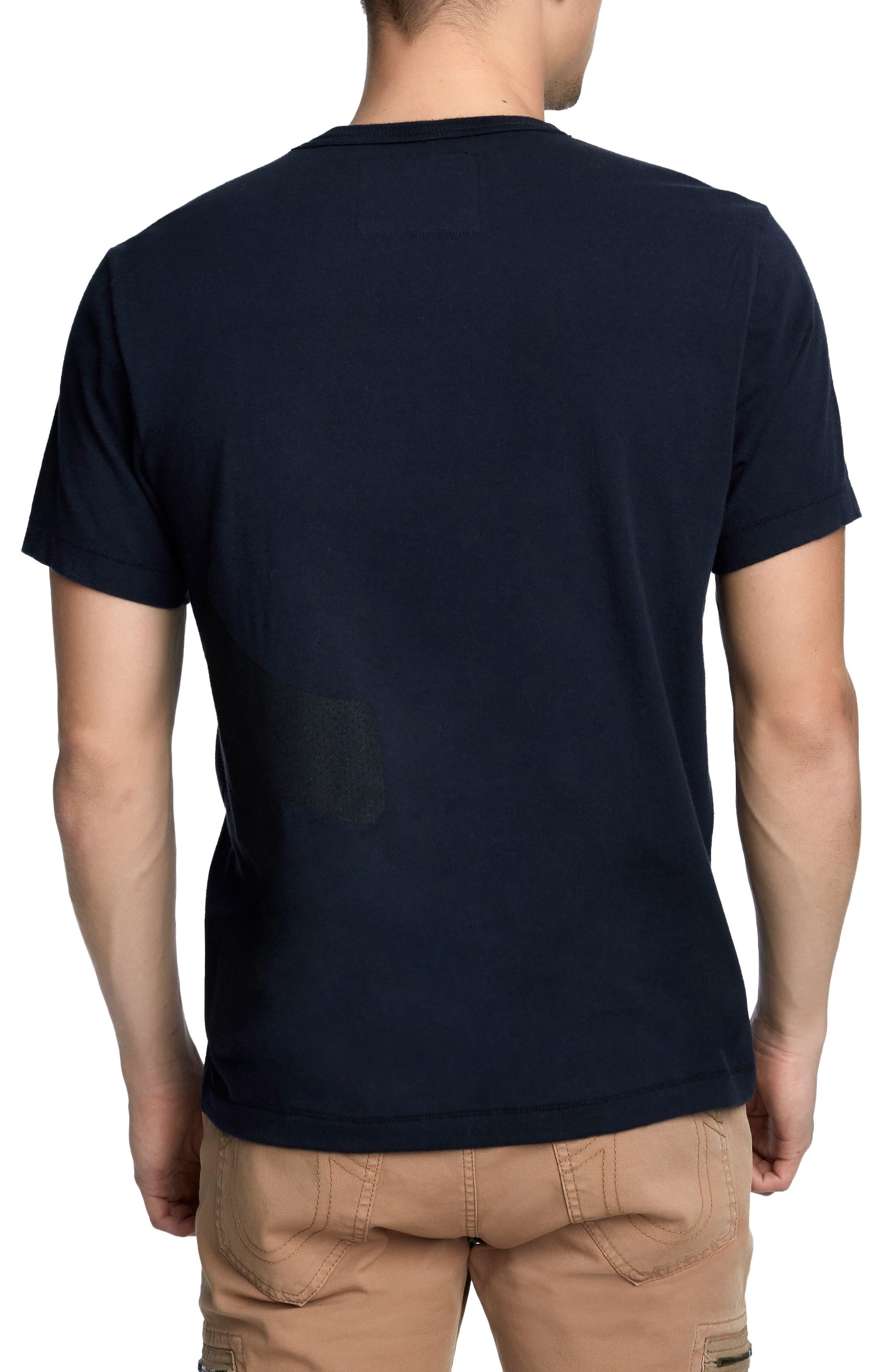 Printed Mesh Logo T-Shirt,                             Alternate thumbnail 2, color,                             True Black