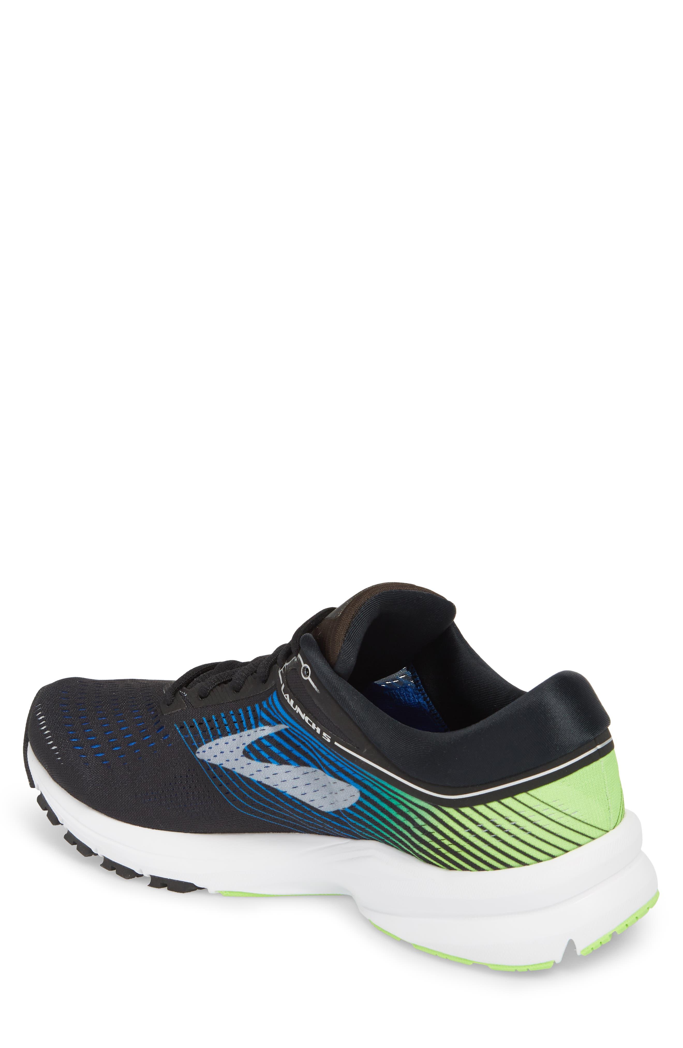 Launch 5 Running Shoe,                             Alternate thumbnail 2, color,                             Black/ Blue/ Green