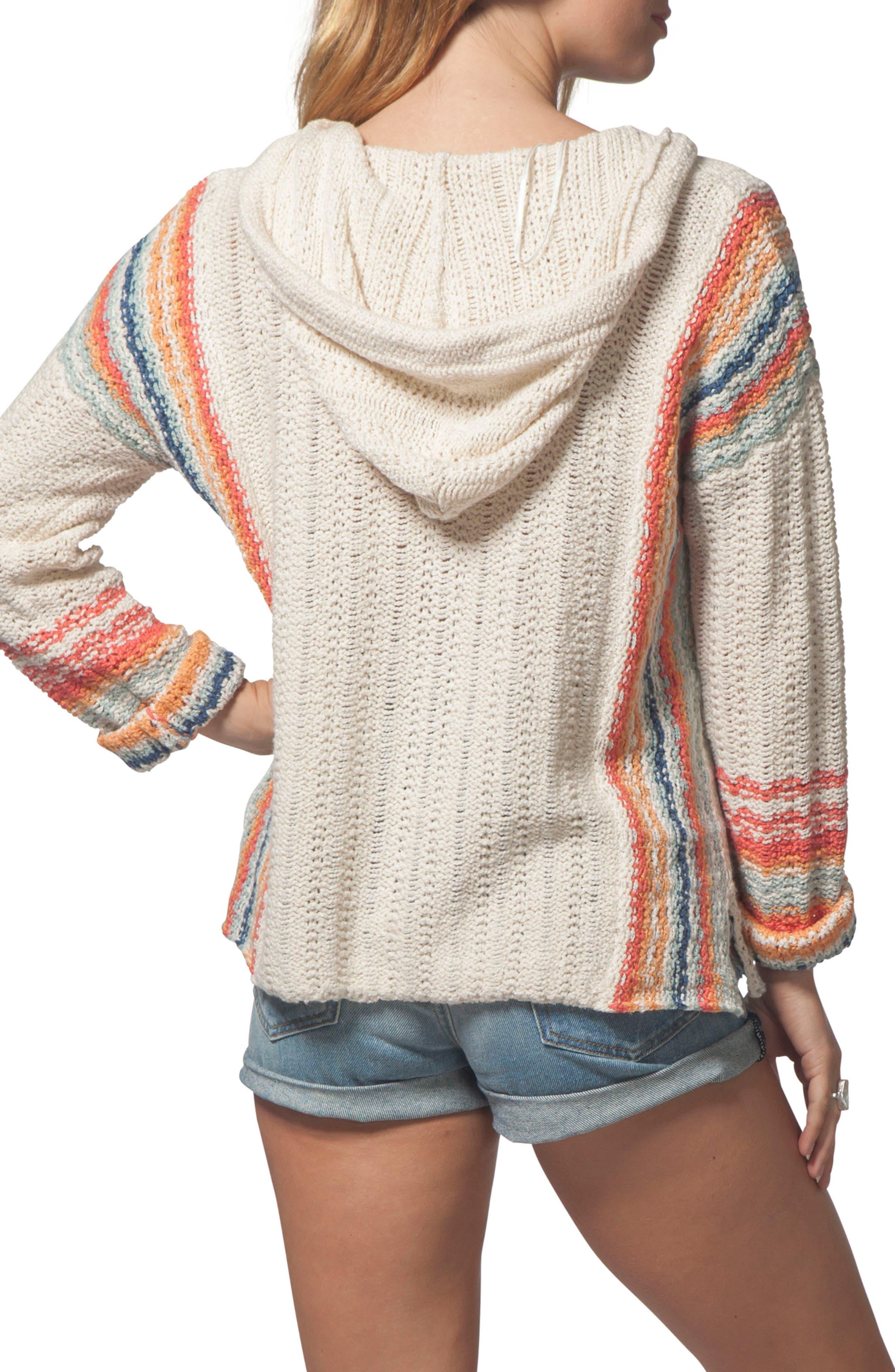 Sedona Hooded Knit Pullover,                             Alternate thumbnail 2, color,                             Multico